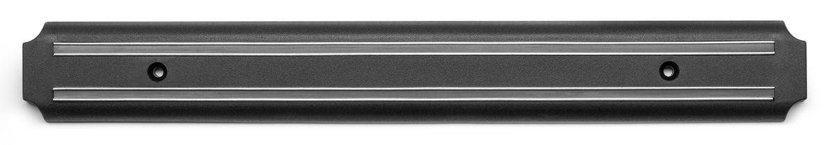 Держатель магнитный для ножей Apollo Sapphire, длина 38,5 смSPH-38Держатель Apollo Sapphire предназначен для удобного хранения металлических кухонных ножей. Он оснащен сильными магнитами для надежной фиксации ножей. Держатель крепится к стене при помощи двух шурупов с дюбелями (входят в комплект) в любом удобном месте. Изделие изготовлено из высококачественной нержавеющей стали, магнита и прочного пластика. Держатель для ножей Apollo Sapphire идеально впишется в интерьер современной кухни и позволит полнее использовать пространство, избегая размещения ножей на горизонтальной поверхности. Не рекомендуется мыть в посудомоечной машине. Размер держателя: 38,5 х 5 х 1,3 см.