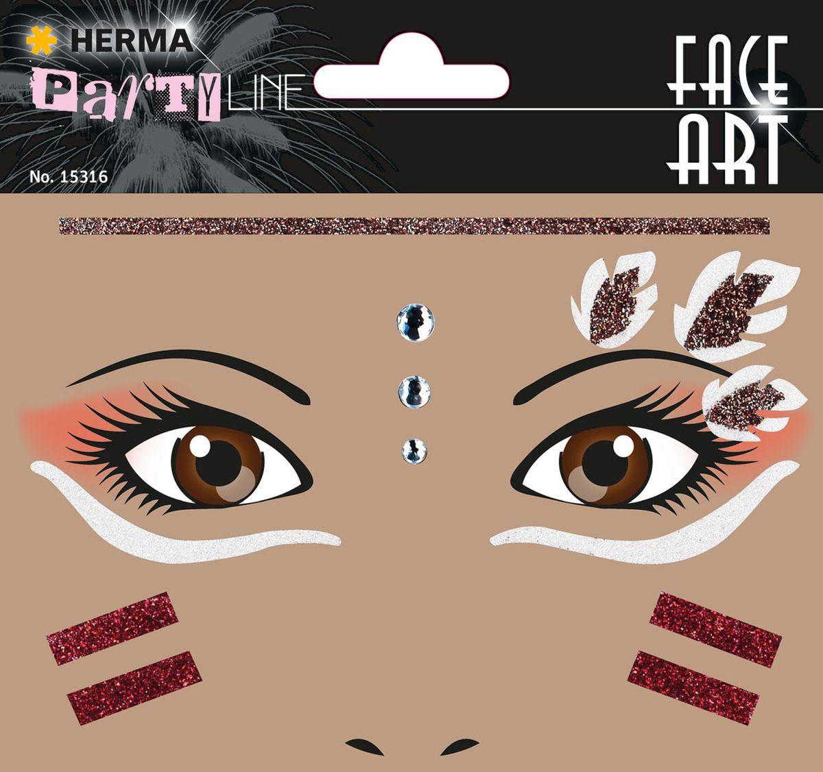 Herma Наклейки на лицо Face Art Squaw (Индеец)15316Face Art (фэйсарт) – это новое направления творчества и искусства. В последнее время фэйсарт стал достаточно популярным и востребованным направлением творчества. Что такое - фэйс арт, это искусство рисования разноцветными красками на лице. Face Art decor от Herma - это серия наклеек для фэйс арта с наиболее популярными мотивами. Face Art decor от Herma - это гламурно, стильно и ярко! Наклейки прошли дерматологические испытания. Инструкция: 1. Аккуратно снимите наклейку и наклейте на лицо. 2. Можно завершить образ с помощью макияжа. 3. Наклейка легко снимается, аккуратно удалите наклейку с лица и умойте лицо водой. 4. Не подходит для чувствительной кожи.
