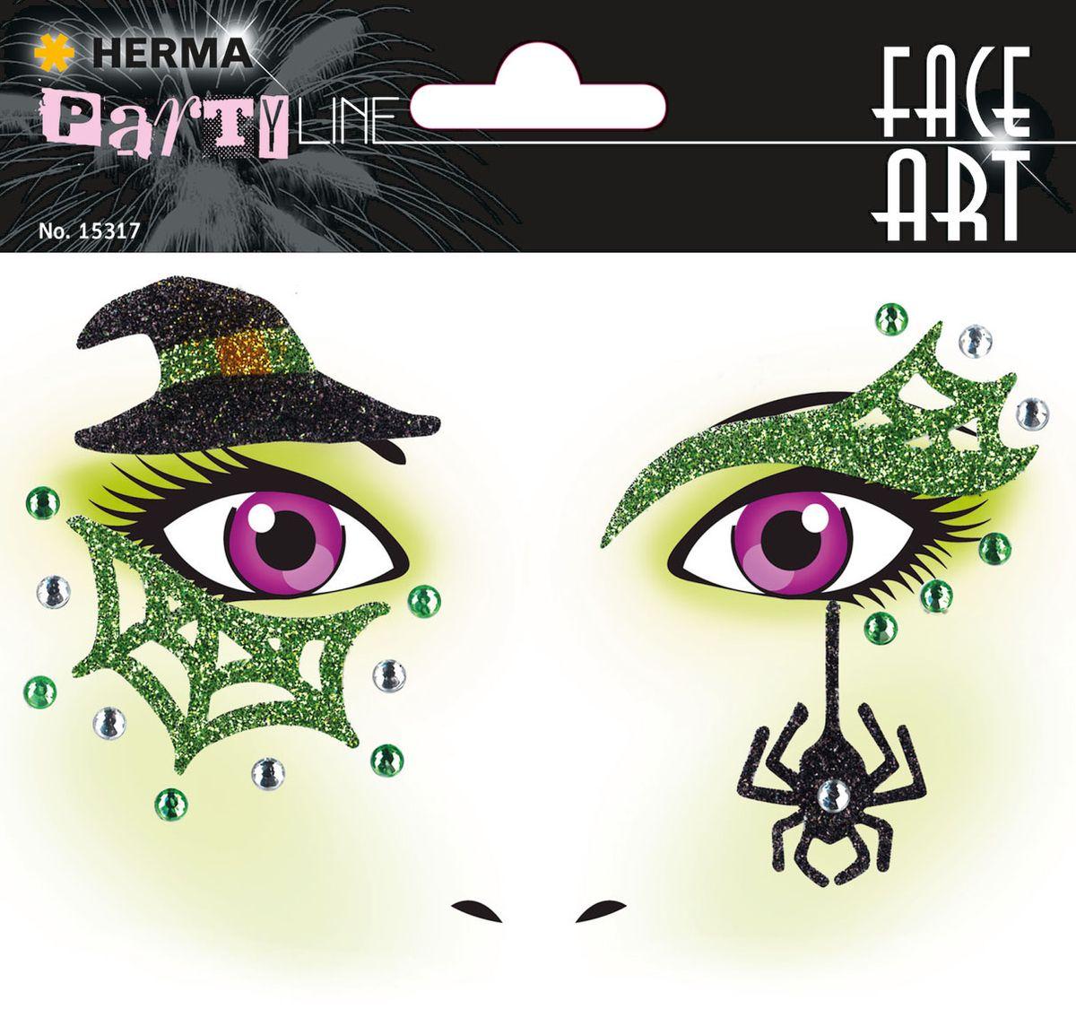 Herma Наклейки на лицо Face Art Witch (Ведьмочка)