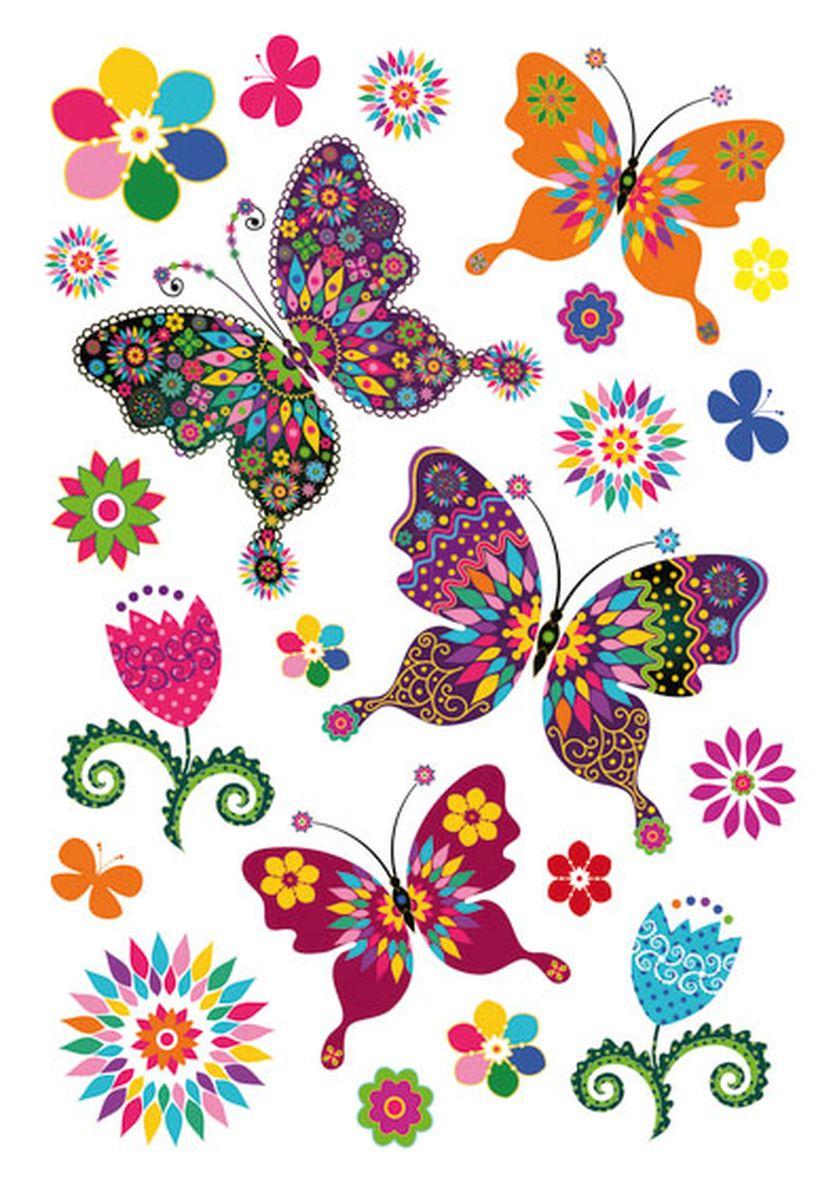 Herma Наклейки Magic Волшебные бабочки3174Наклейки из тонкого пластика с обсыпкой из блёсток. На рисунок наклейки нанесены разноцветные блестки, позволяя ему переливаться и блестеть на свету.
