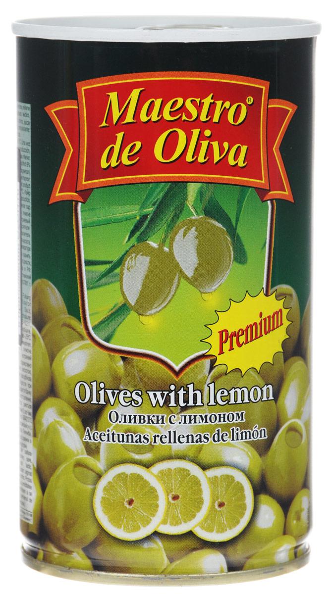 Maestro de Oliva оливки крупные с лимоном, 350 г