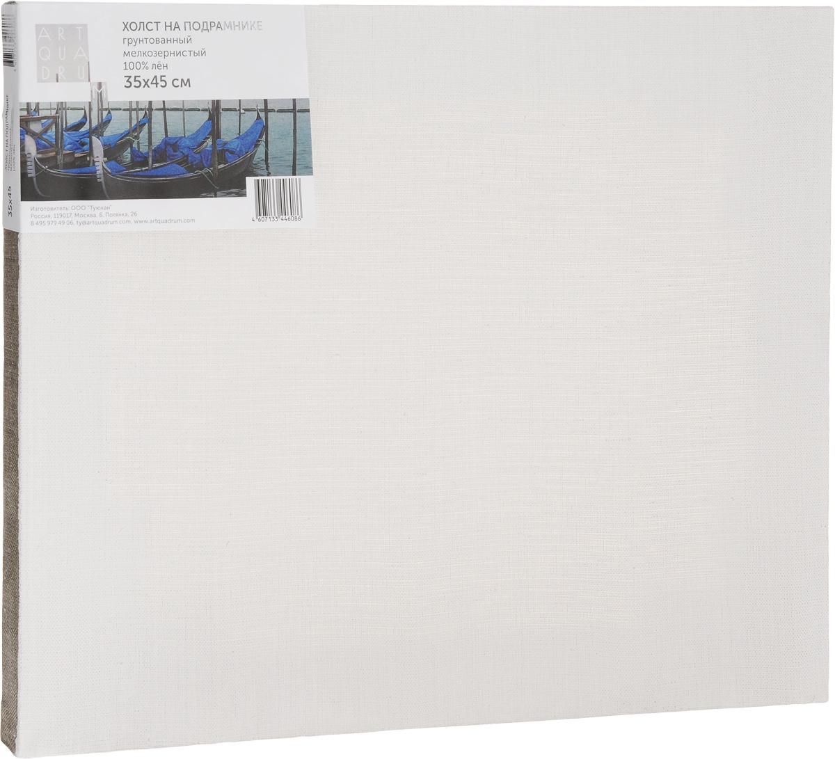 Холст на подрамнике Туюкан Мелкозернистый, 35 х 45 смТ0003830Холст для живописи грунтованный на подрамнике. Идеально подходит для работы маслом, акрилом. 100% лен.