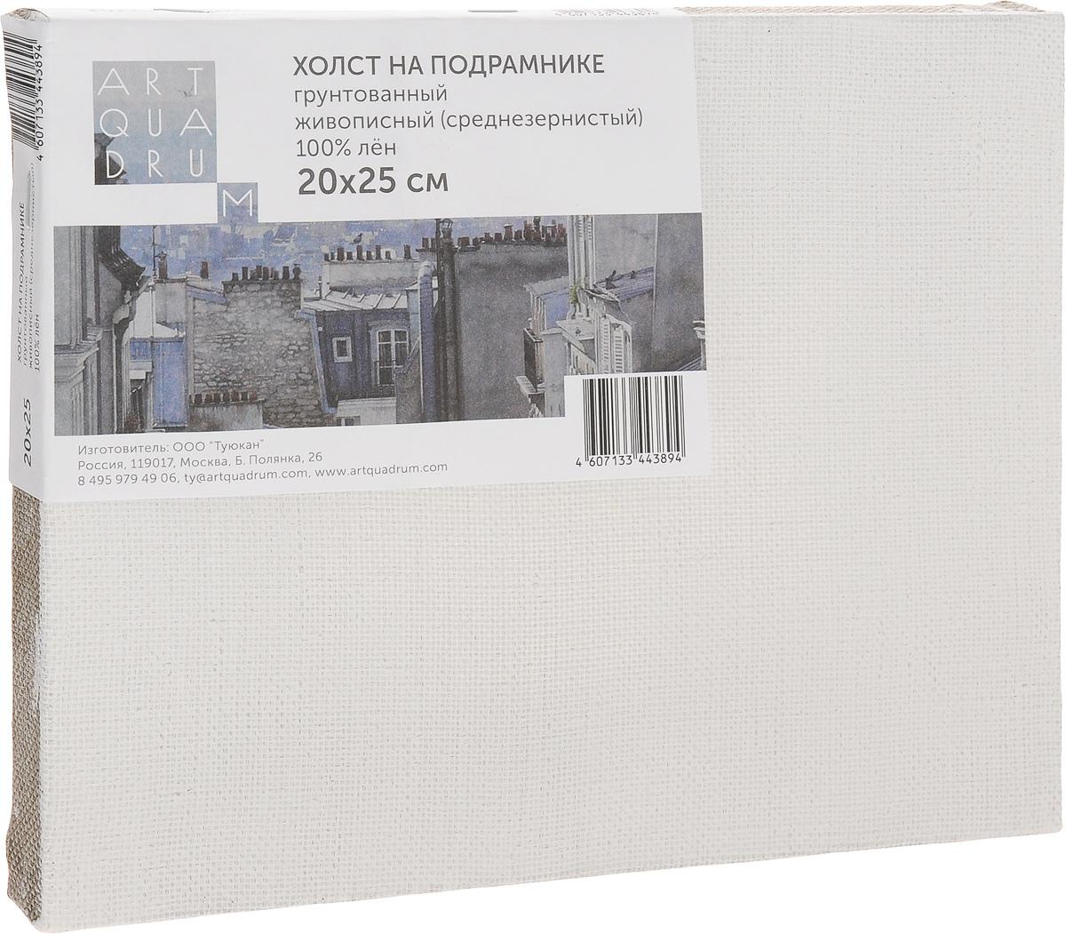 Холст на подрамнике Туюкан Живописный, 20 х 25 смТ0003986Холст для живописи грунтованный на подрамнике. Идеально подходит для работы маслом, акрилом. 100% лен.