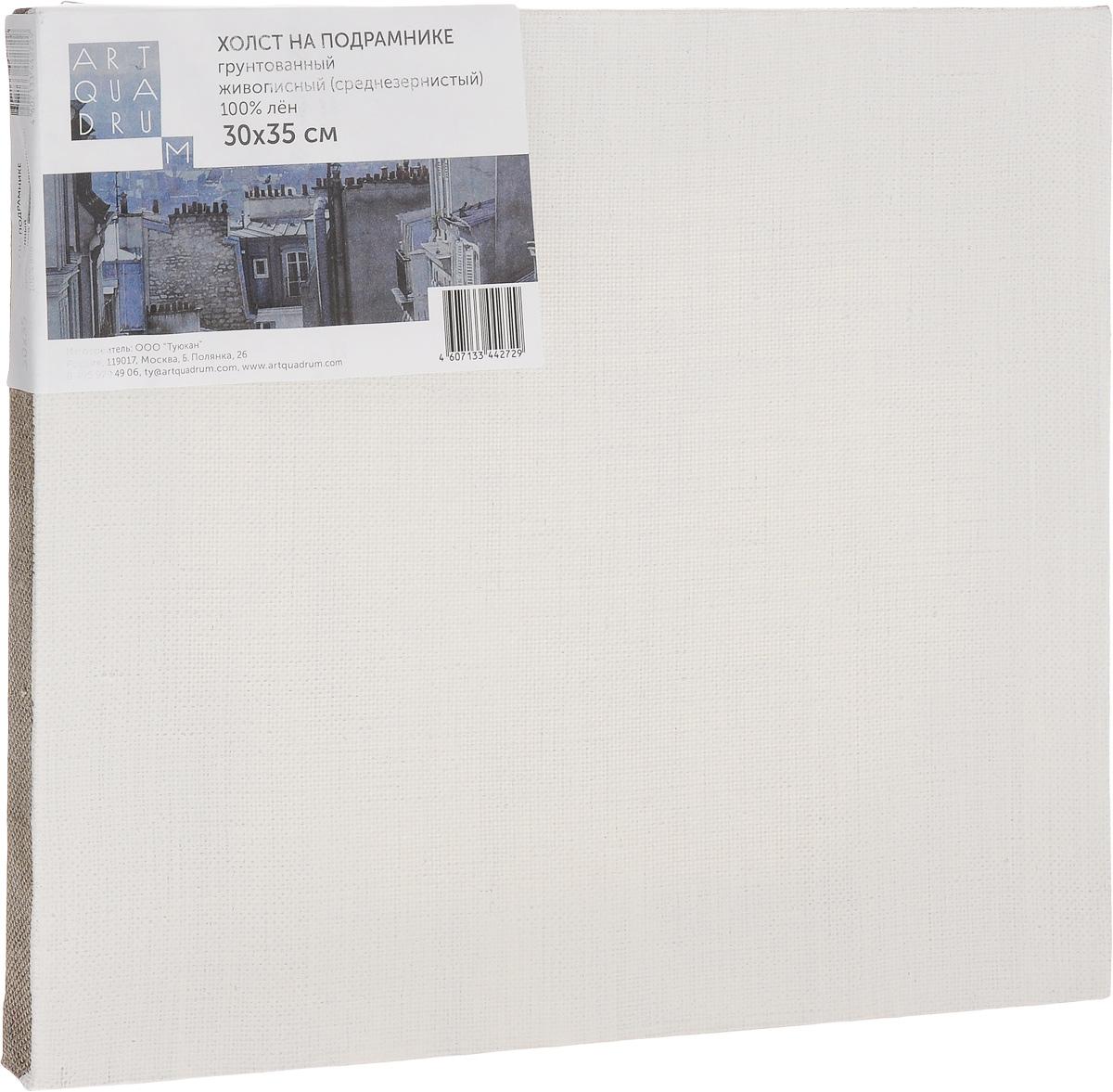 Холст на подрамнике Туюкан Живописный, 30 х 35 смТ0003738Холст для живописи грунтованный на подрамнике. Идеально подходит для работы маслом, акрилом. 100% лен.
