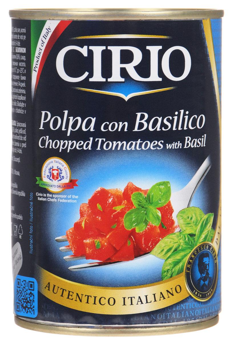 Cirio Chopped Tomatoes With Basil томаты резаные очищенные с базиликом, 400 г0470004/3Cirio Chopped Tomatoes With Basil - очищенные и мелко нарезанные на кусочки томаты с добавлением базилика. Идеально подходят в качестве заправки для макаронных изделий.