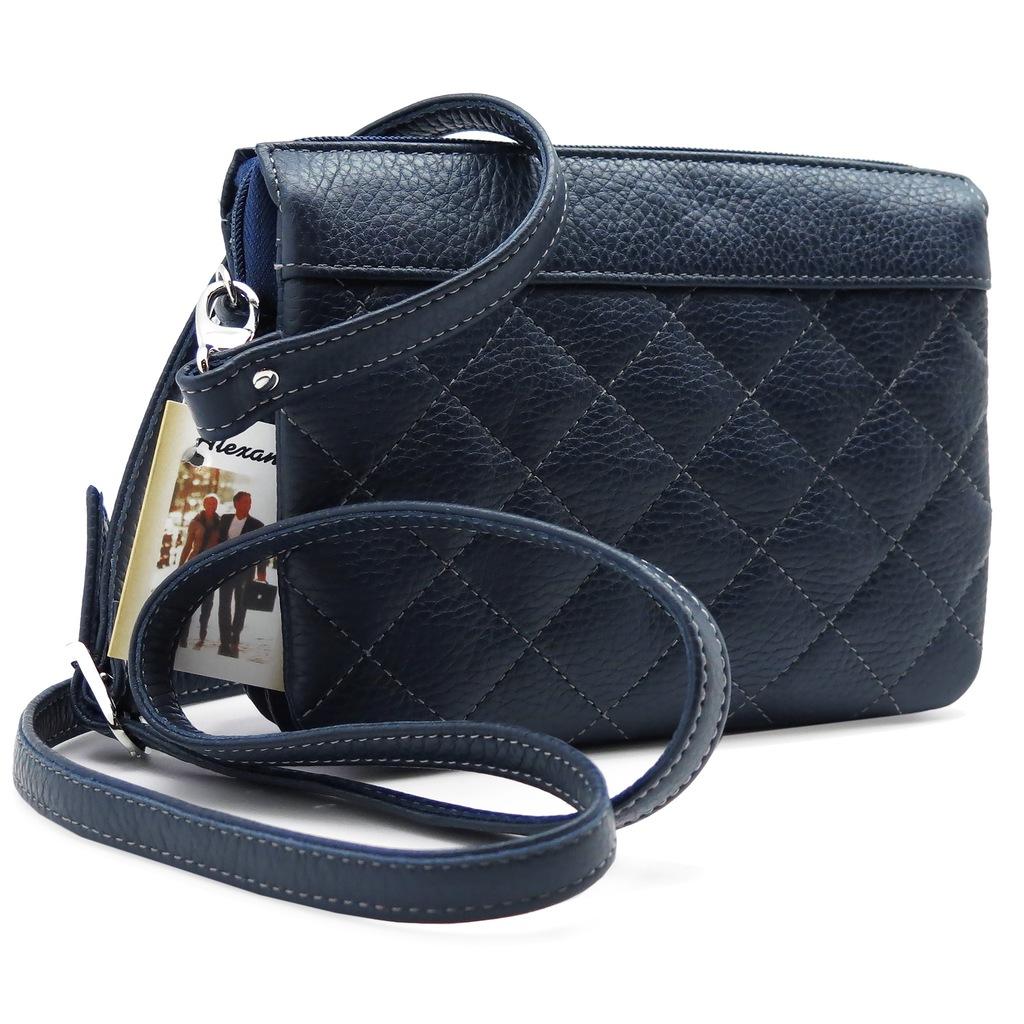 Сумка женская Alexandr, цвет: синий. Т-2а/92Т-2а/92Женская компактная сумка Alexandr из натуральной кожи синего цвета имеет три отделения, одно из них на молнии. Снаружи карман на молнии. Плечевой ремень регулируется по длине.