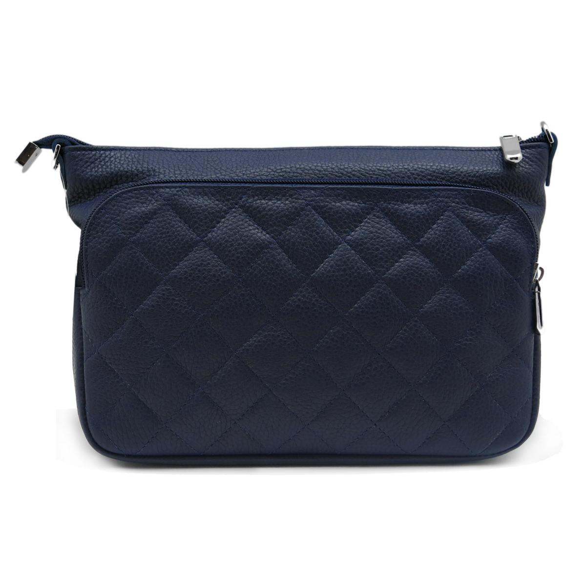 Сумка женская Alexandr, цвет: синий. Т-43/92Т-43/92Женская сумка Alexandr из натуральной кожи синего цвета имеет одно отделение на молнии и накладной карман. Внутри два кармашка для мелочей, карман на молнии. Плечевой ремень регулируется по длине.