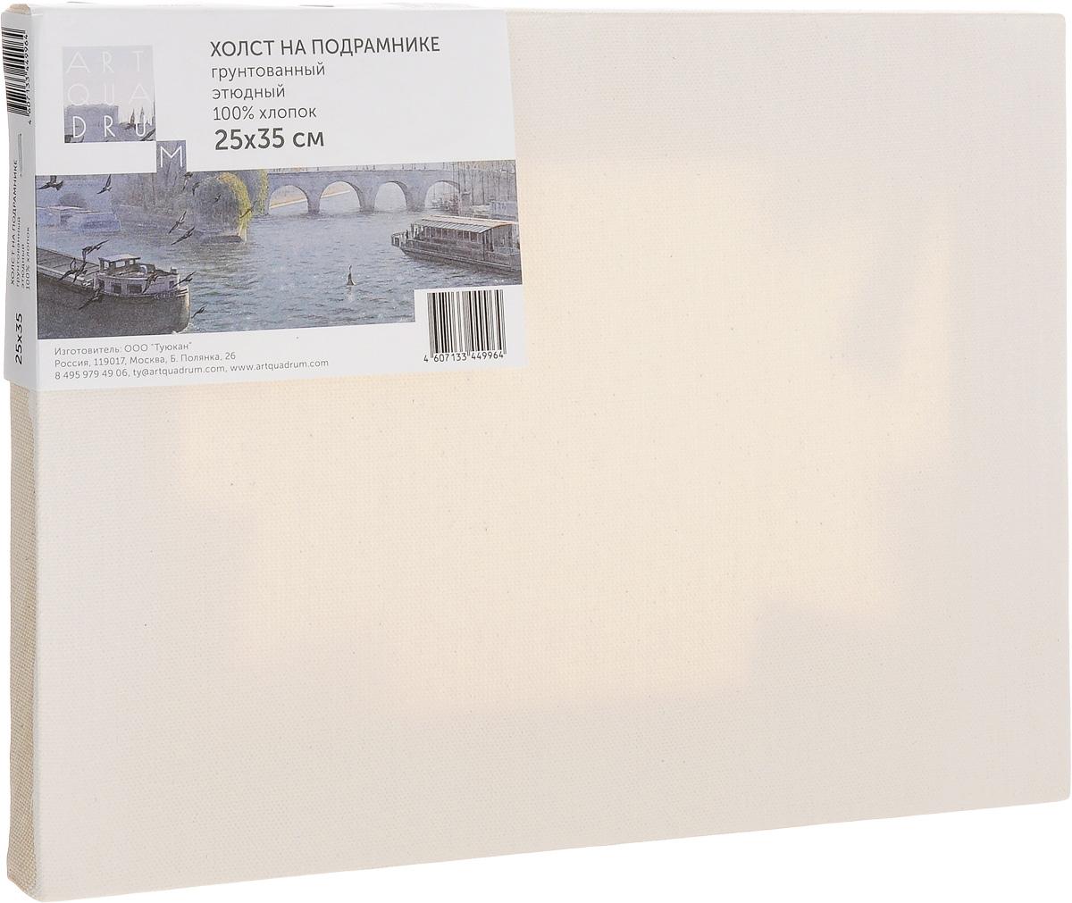 Холст на подрамнике Туюкан Этюдный, 25 х 35 смТ0015331Холст для живописи грунтованный на подрамнике. Идеально подходит для работы маслом, акрилом. 100% хлопок.