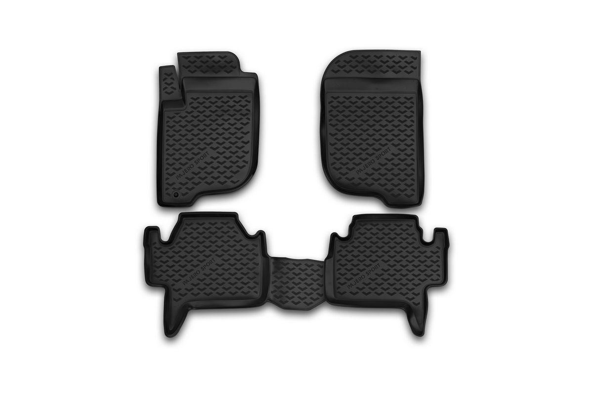 Набор автомобильных ковриков Novline-Autofamily для Mitsubishi Pajero Sport 2008-2012, 2012-, в салон, 4 штBI.001.025Набор автомобильных ковриков Novline-Autofamily, изготовленный из полиуретана, состоит из 4 ковриков, которые учитывают все особенности каждой модели автомобиля и полностью повторяют контуры пола. Полиуретановые автомобильные коврики для салона произведены из высококачественного материала, который держит форму, прочный и не пачкает обувь. Коврики в салон не только улучшат внешний вид салона вашего автомобиля, но и надежно уберегут его от пыли, грязи и сырости, а значит, защитят кузов от коррозии. Полиуретановые коврики для автомобиля гладкие, приятные и не пропускают влагу. Ковры для автомобилей надежно крепятся на полу и не скользят, что очень важно во время движения. Чистятся коврики очень просто: как при помощи автомобильного пылесоса, так и различными моющими средствами. Набор подходит для Mitsubishi Pajero Sport 2008-2012, 2012 и позднее годов выпуска.