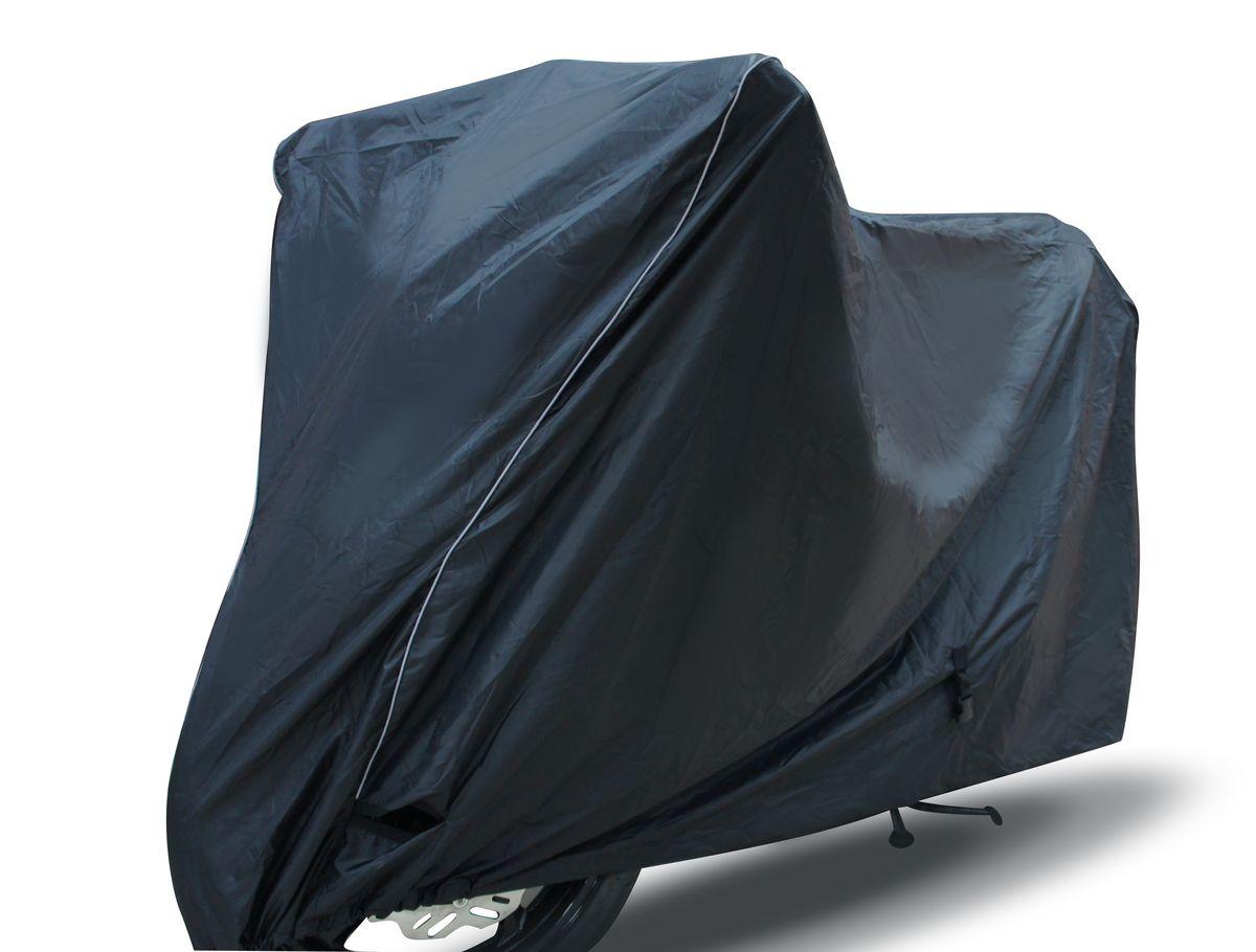Чехол для мототехники Starks Scooter (M), цвет: черныйЛЦ0016Чехол для мототехники. Водонепроницаемый. Жаростойкий-до 200С. Стропа по середине, фиксирует по центру мотоцикла. Не позволяет нагревать технику на солнце, отражает солнечные лучи. Отсутствует эффект термоса. Сумочка для транспортировки и хранения.