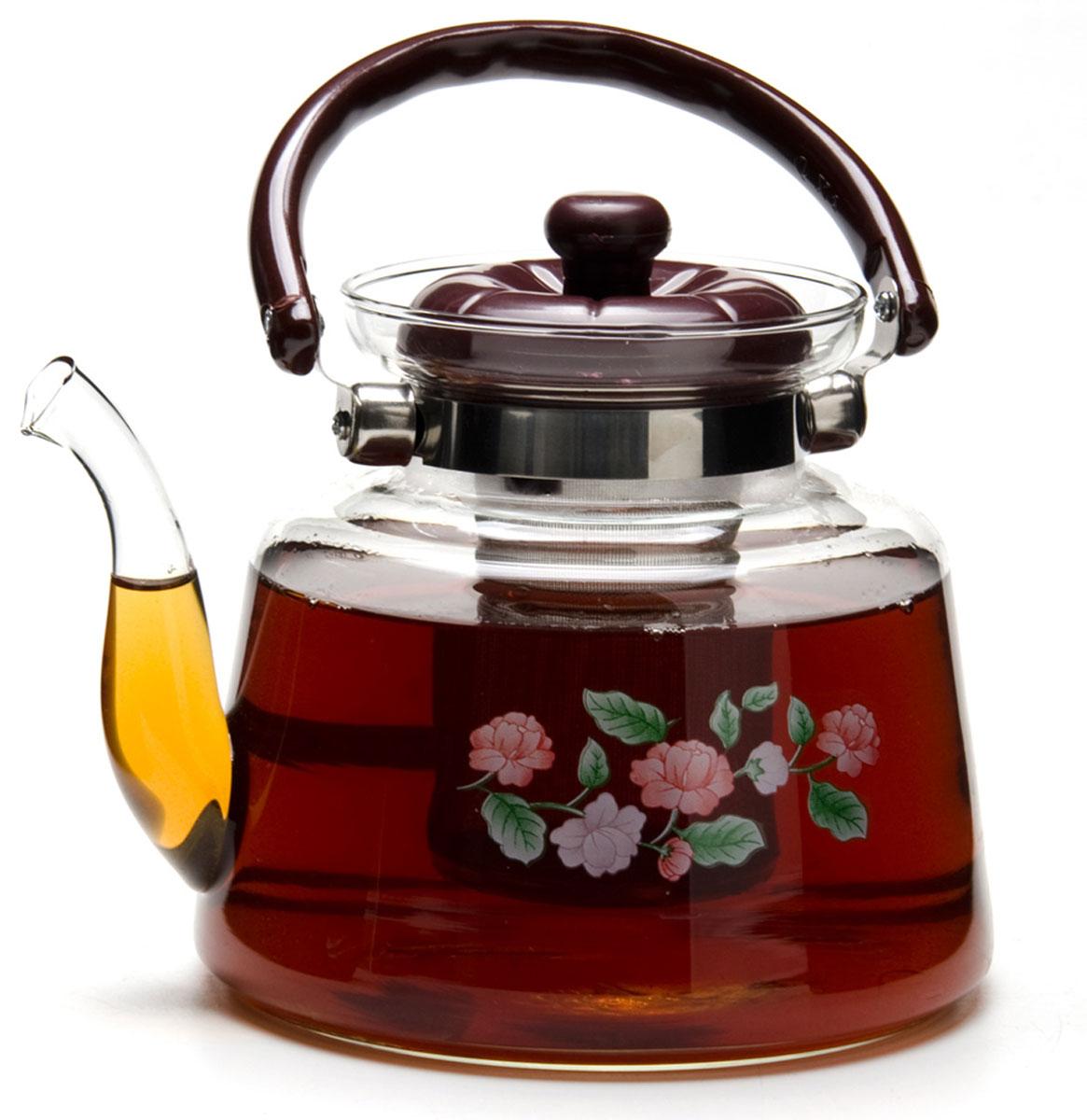 Чайник заварочный Mayer & Boch, 1,8 л. 2078220782Заварочный чайник, выполненный из жаропрочного стекла, практичный и простой в использовании. Он займет достойное место на вашей кухне и позволит вам заварить свежий, ароматный чай. ручка и крышка заварочного чайника изготовлены из пластика черного цвета, что обеспечивает дополнительную защиту от ожогов. Чайник оснащен сетчатым фильтром из нержавеющей стали, что позволяет задерживать чаинки и предотвращать их попадание в чашку, а прозрачные стенки дадут возможность наблюдать за насыщением напитка. Заварочный чайник Mayer&Boch послужит хорошим подарком для друзей и близких.