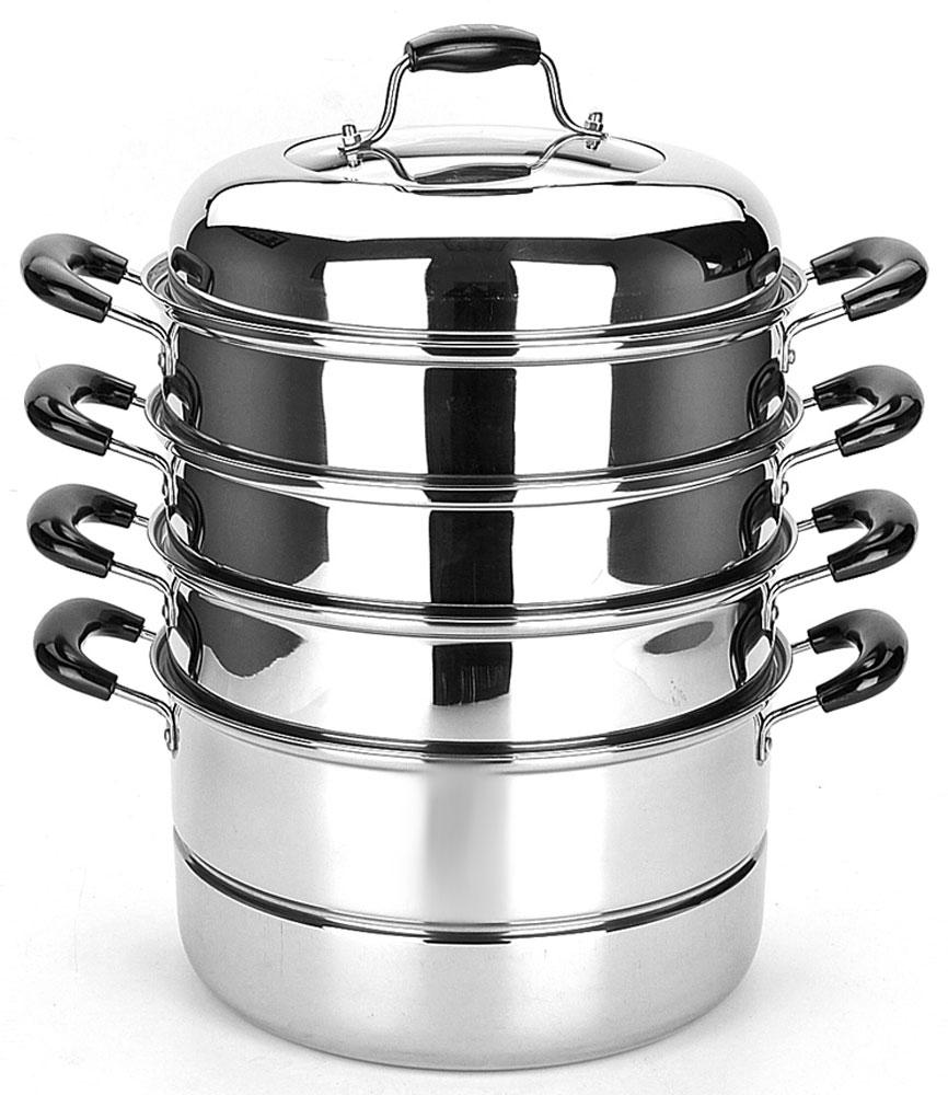 МантоваркаMayer & Boch, диаметр 26 см, 4 уровня. 21462214626 предметов Крышка+секция мантоварки(3шт)+сетка+нижняя часть материал:Нержавеющая сталь Ручки: бакелит Крышка:нержавеющая сталь+стекло Размер: D26см(7л) 30,5х30,5х36,5см Вес упаковки:3,95кг