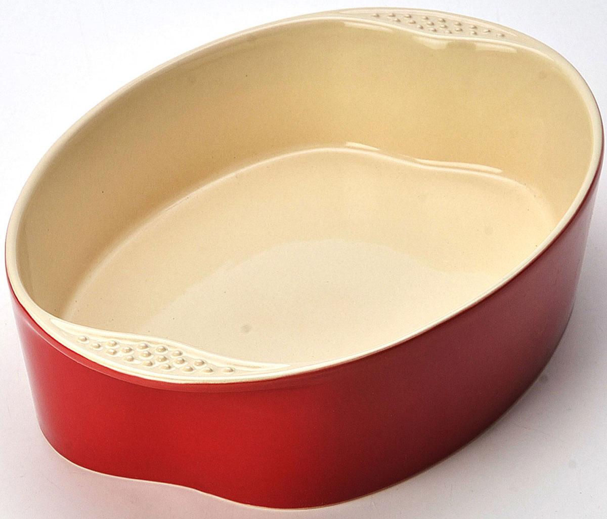 Противень Mayer & Boch, 33,5 х 23 х 7 см. 2176521764Противень изготовлен из керамики, оснащен двумя удобными ручками по бокам. Пища, приготовленная в керамической посуде, сохраняет свои вкусовые качества, и благодаря экологической чистоте материала, не может нанести вред здоровью человека. Керамика - один из самых лучших материалов, который удерживает тепло, медленно и равномерно его распределяет. Максимальный нагрев - 400°С. Подходит для использования в микроволновой, конвекционной печи и духовке. Подходит для хранения продуктов в холодильнике и морозильной камере. Не подходит для открытого огня. Можно мыть в посудомоечной машине. материал устойчив к образованию пятен, не пропускает запах. Размер: 33,8 х 23 х 7 см. Толщина стенок: 6 мм. Объем: 2,8 л