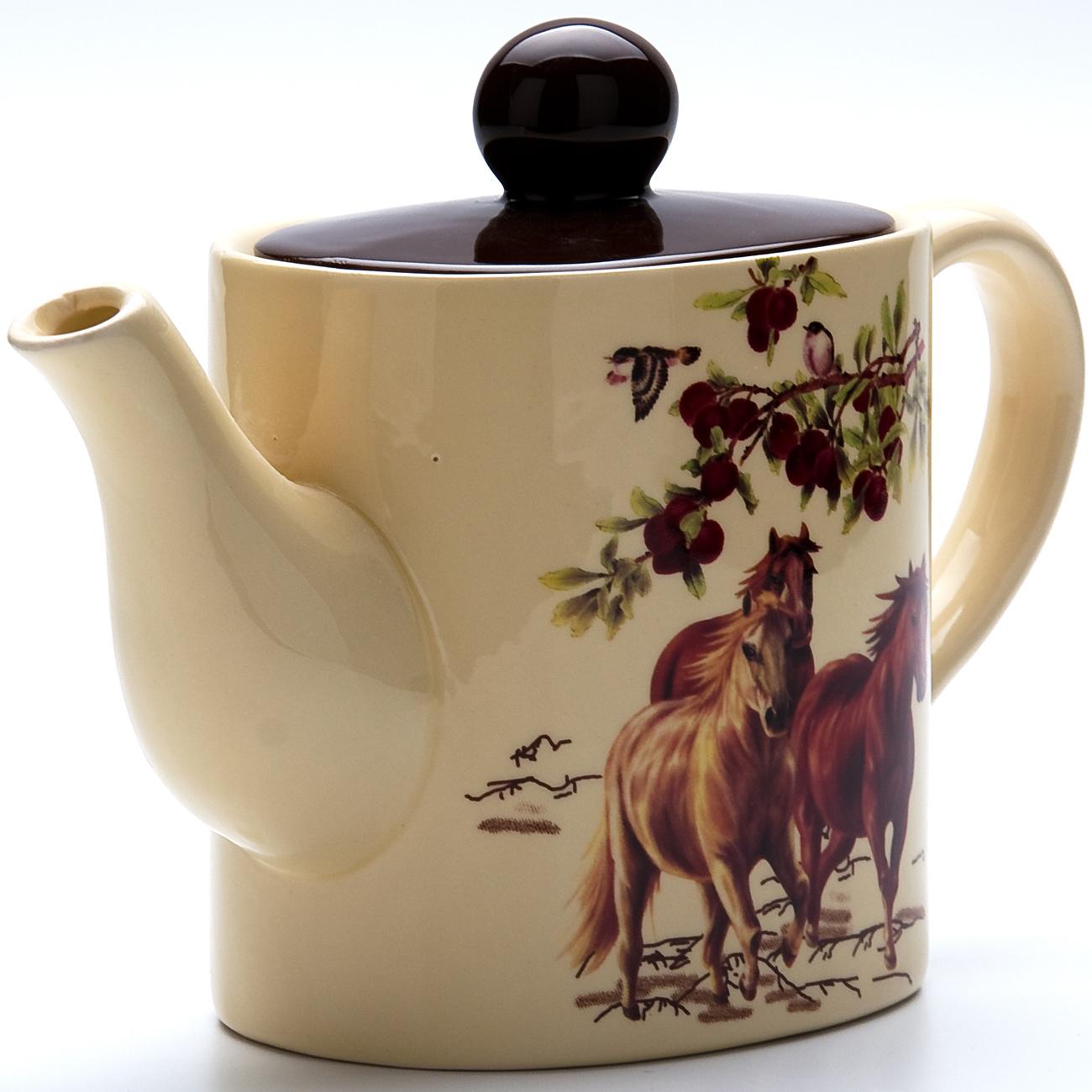 Чайник заварочный Loraine Лошадь, 830 мл. 2283622836Чайник заварочный Loraine Лошадь выполнен из доломита и имеет изящное оформлениие. Объем: 830 мл.