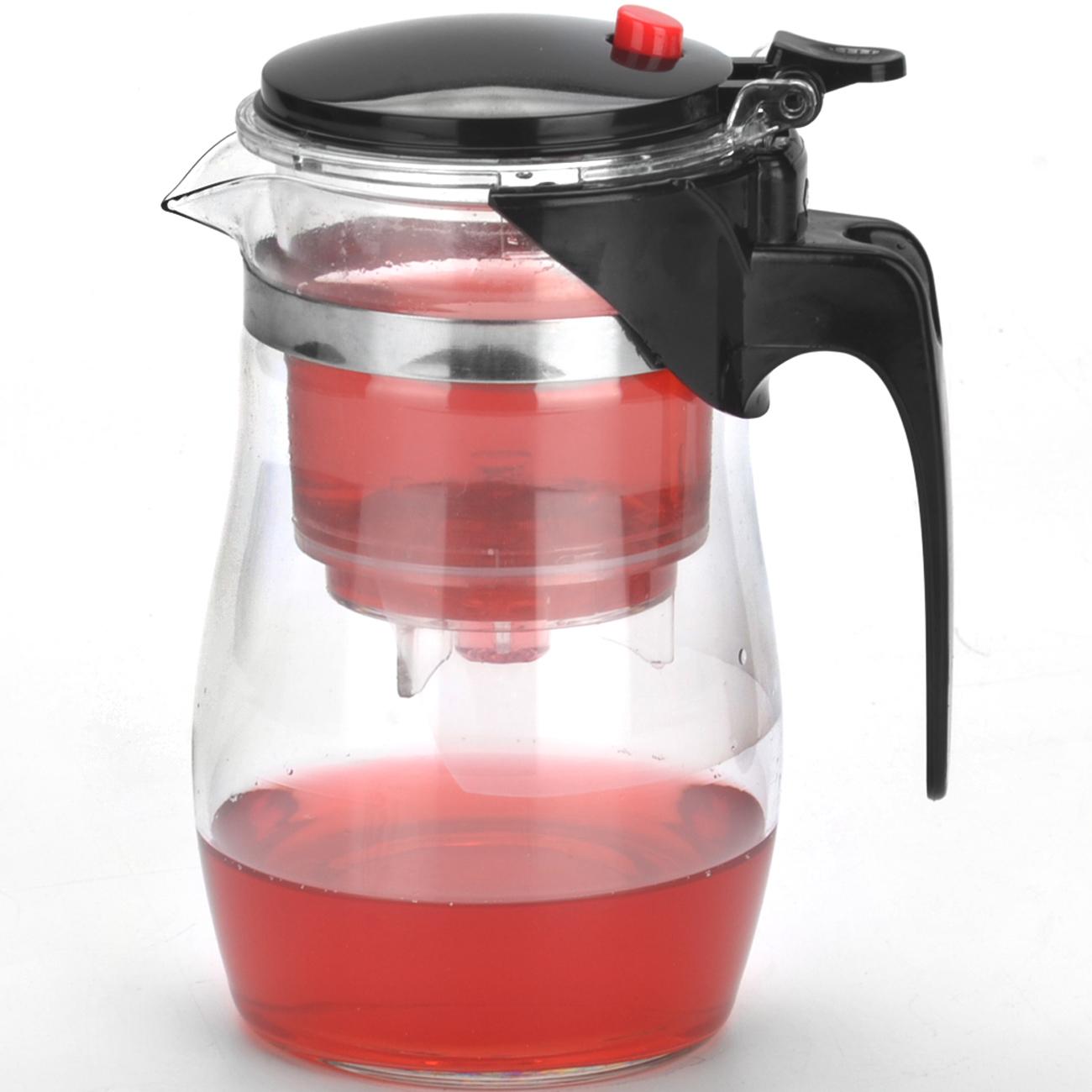 Чайник заварочный Mayer & Boch, 0,75 л. 40234023Заварочный стеклянный чайник Mayer & Boch с внутренней колбой из термостойкой пищевой пластмассы и металлическим ситечком с клапаном.