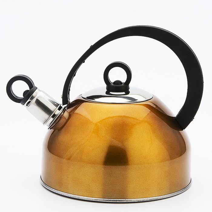 Чайник Mayer & Boch, 2,5 л. 32273227-1Корпус чайника выполнен из высококачественной нержавеющей стали, что обеспечивает долговечность использования. Корпус с зеркальной поверхностью синего цвета. Фиксированная ручка из бакелита делает использование чайника очень удобным и безопасным. Носик снабжен свистком, что позволит вам контролировать процесс подогрева или кипячения воды. Капсулированное дно с прослойкой из алюминия обеспечивает наилучшее распределение тепла. Эстетичный и функциональный, с эксклюзивным дизайном, чайник будет оригинально смотреться в любом интерьере. Можно мыть в посудомоечной машине. Индукционное дно, термостойкое покрытие. Объем: 2,5 л.