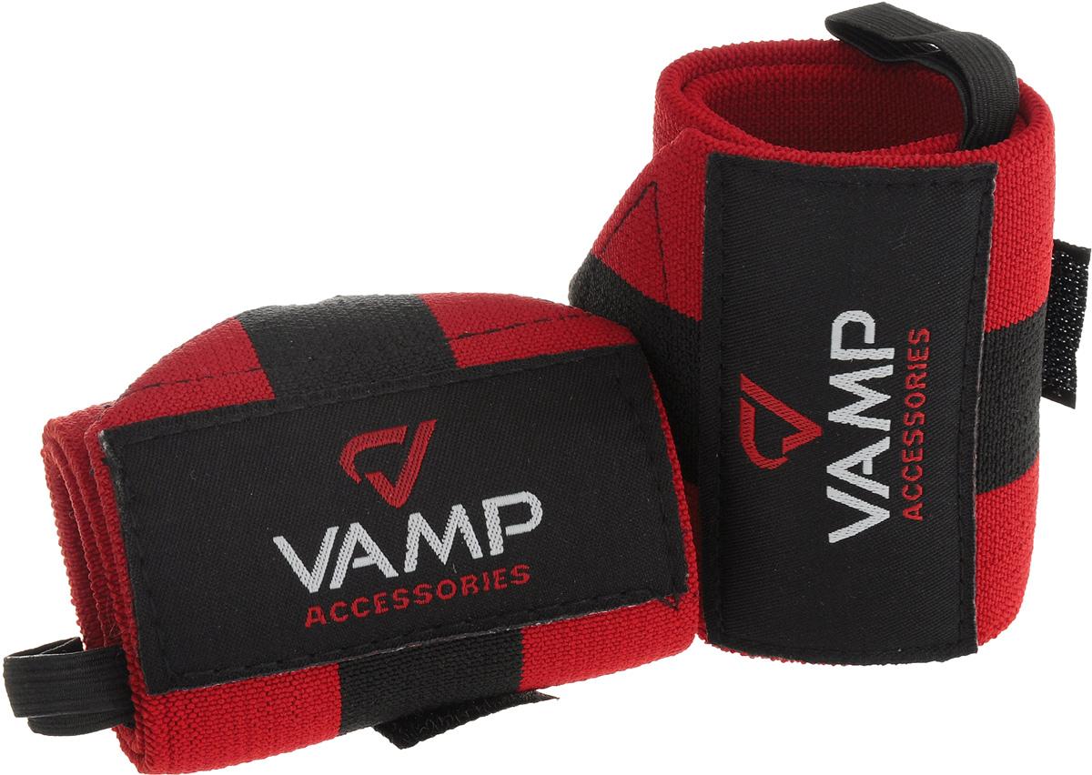 Бинт гимнастический Vamp, 2 шт. Размер MV-379Гимнастические бинты Vamp предназначены для защиты кистей во время интенсивных тренировок. Выполнены они из прочной и эластичной ткани, не вызывают раздражений кожи и не препятствуют нормальному кровотоку. Застежка на липучке надежно фиксирует бинт, изделие не скользит и не мешает в ходе тренировки. Комплектация: 2 шт.