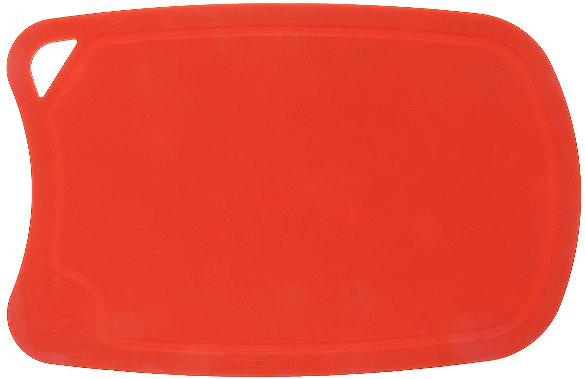 Доска разделочная TimA, цвет: коралловый, 28 х 19 смДРГ-2819_коралловыйГибкая разделочная доска TimA, изготовленная из высококачественного полиуретана, займет достойное место среди аксессуаров на вашей кухне. Благодаря гибкости, с доски удобно высыпать нарезанные продукты. Она не тупит металлические и керамические ножи. Не впитывает влагу и легко моется. Обладает исключительной прочностью и износостойкостью. Доска TimA прекрасно подойдет для нарезки любых продуктов. Можно мыть в посудомоечной машине.