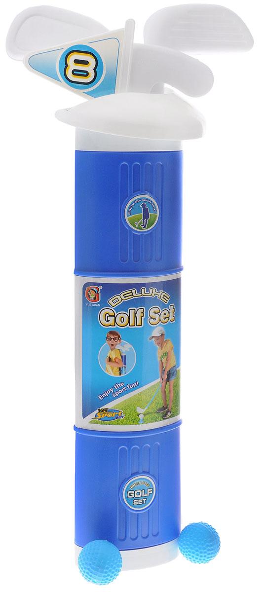 YG Sport Игровой набор ГольфYG13FИгровой набор YG Sport Гольф прекрасно подойдет для детей, которые любят весело и активно проводить время. В набор входят 2 пластиковых мяча для игры в гольф, специальная лунка, флажок, три клюшки для гольфа и тубус для удобства хранения предметов набора. Спортивные игры развивают ловкость, силу и глазомер. Порадуйте своего непоседу таким замечательным подарком!