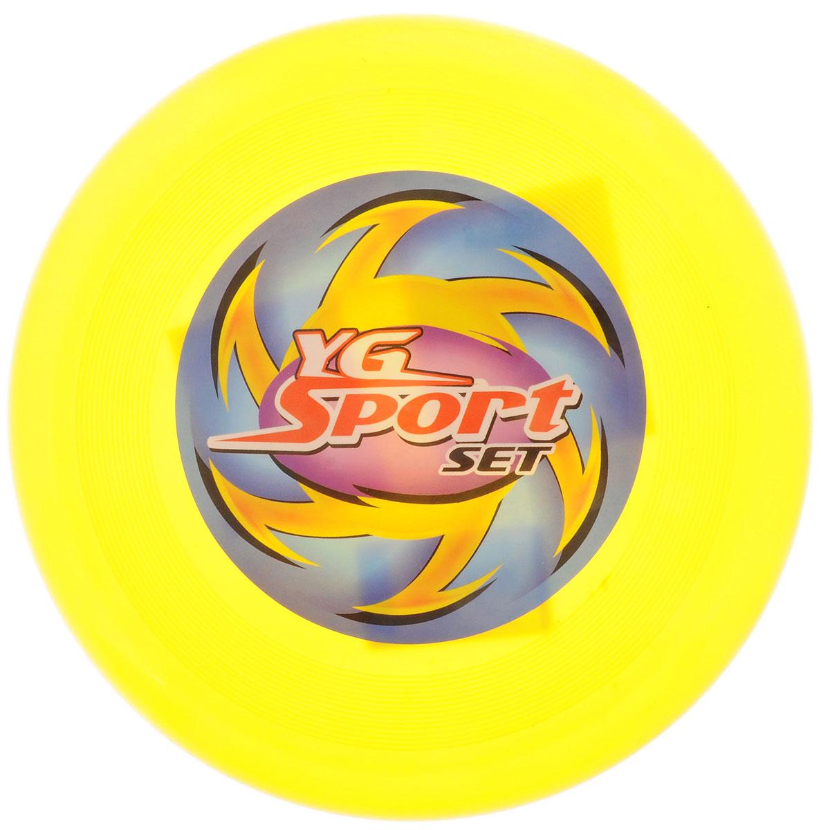 YG Sport Летающий диск цвет желтыйYG03JЛетающий диск YG Sport выполнен из прочного материала, что обеспечивает ему долговечность. А яркость и особая форма делают идеальным для спортивных развлечений! Летающий диск способен поднять настроение всем! Каждый ребенок будет рад такому яркому и спортивному подарку.