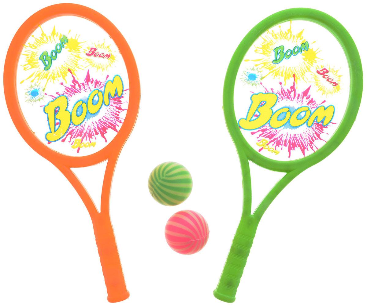 YG Sport Игровой набор ТеннисYG39GИгровой набор YG Sport Теннис - прекрасный способ весело и активно провести время на природе. В комплект входят две ракетки и два мяча. Все предметы выполнены из прочного и качественного материала в яркой цветовой гамме. Игра развивает меткость, ловкость, внимательность и мелкую моторику.