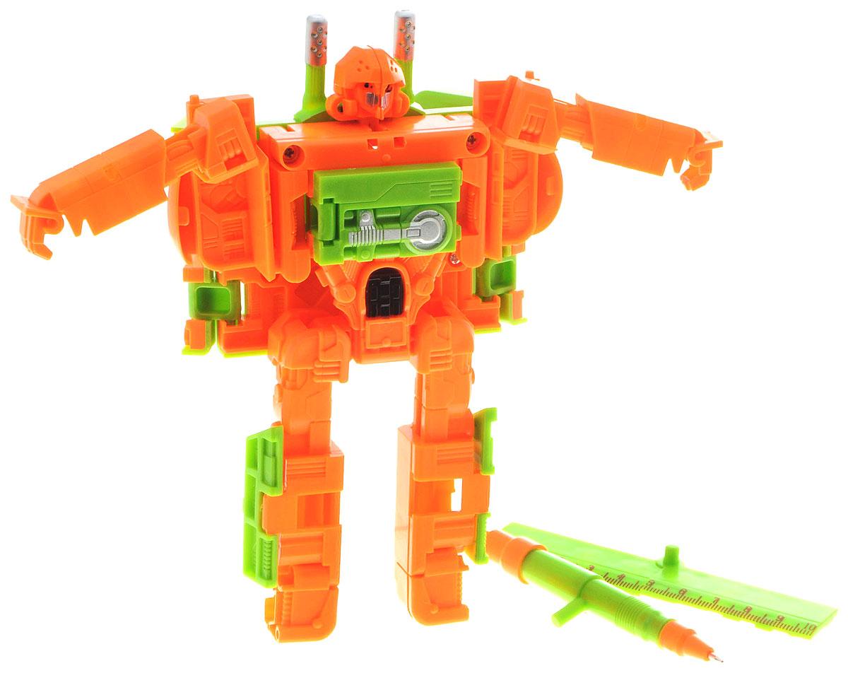 Play Smart Трансформер Владыка тайнР41087Оригинальный трансформер Play Smart Владыка тайн обязательно порадует вашего ребенка и надолго займет его внимание. Трансформер выполнен из прочного пластика ярких цветов. Трансформер имеет две вариации: первая - робот, вторая - школьный пенал. Конструкция робота имеет подвижные соединения, благодаря чему, игрушке можно придавать различные позы. Фигурка отличается высокой степенью детализации. В комплект также входят линейка и ручка. Ваш ребенок с удовольствием будет играть с игрушкой, придумывая разные истории. Порадуйте его таким замечательным подарком!