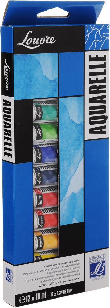 Набор акварельных красок Lefranc & Bourgeois Louvre, 10 мл, 12 штLF806912Набор Lefranc & Bourgeois Louvre состоит из 12 тюбиков акварельной краски разных цветов. Акварель - тонкое взаимодействие цвета и воды. Используется для наложения различных цветов.