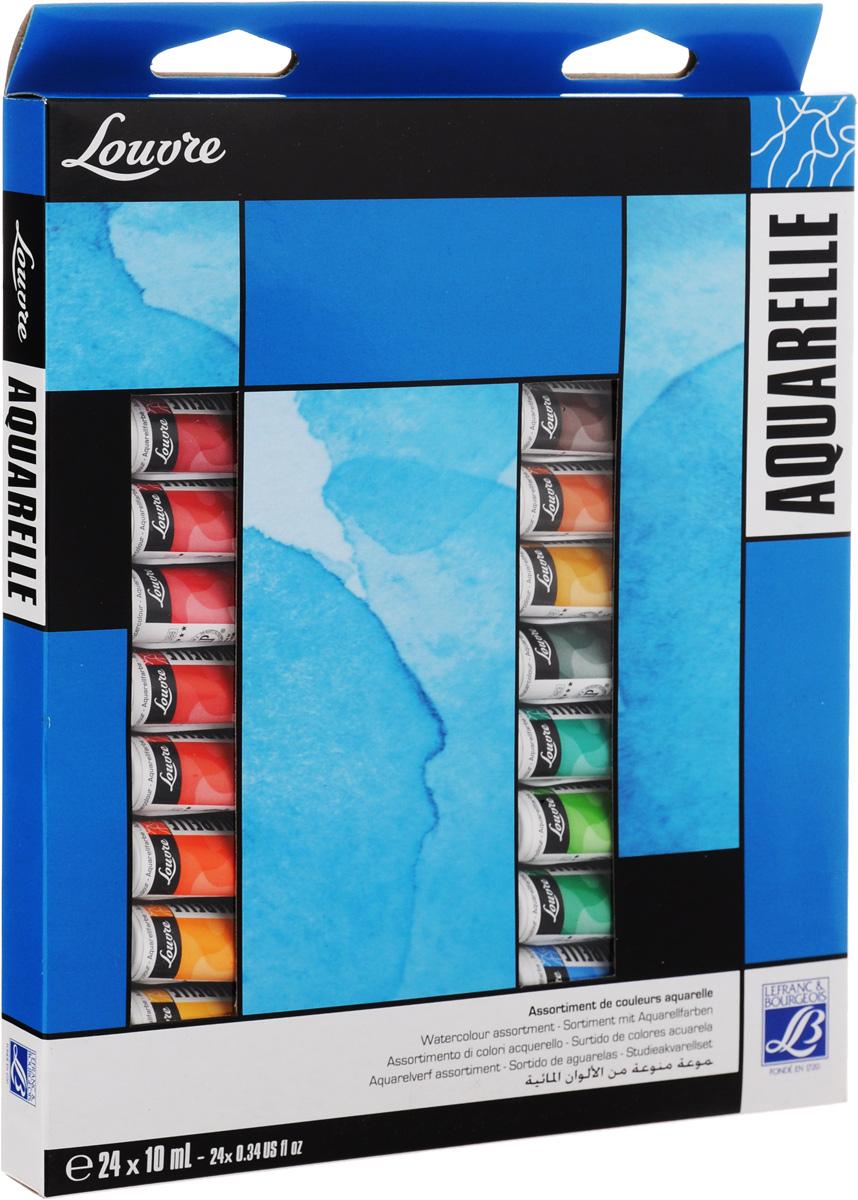 Набор акварельных красок Lefranc & Bourgeois Louvre, 10 мл, 24 штLF806913Набор Lefranc & Bourgeois Louvre состоит из 24 тюбиков акварельной краски разных цветов. Акварель - тонкое взаимодействие цвета и воды. Используется для наложения различных цветов.