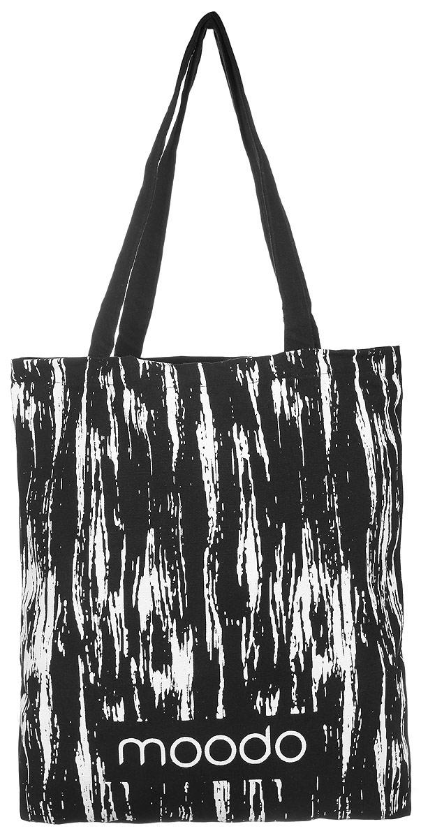 Сумка женская Moodo, цвет: черный. L-TO-2001L-TO-2001 BLACKУниверсальная хлопковая сумка Moodo оформлена стильным принтом с символикой бренда. Сумка имеет одно вместительное отделение и оснащена двумя удобными ручками, которые позволят носить изделие, как в руках, так и на плече. Модная сумка идеально подчеркнет ваш неповторимый стиль.