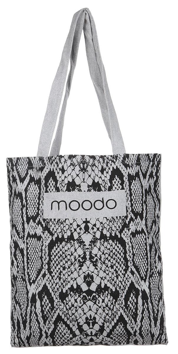 Сумка женская Moodo, цвет: серый. L-TO-2003L-TO-2003 GREYУниверсальная хлопковая сумка Moodo оформлена изображением логотипа бренда и змеиным принтом. Сумка имеет одно вместительное отделение и оснащена двумя удобными ручками, которые позволят носить изделие, как в руках, так и на плече. Модная сумка идеально подчеркнет ваш неповторимый стиль.