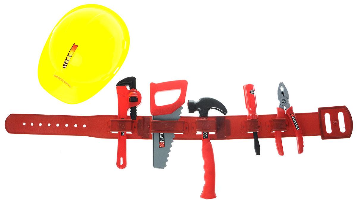 Altacto Игровой набор инструментов УмелецALT0202-006Игровой набор инструментов Altacto Умелец станет отличным подарком для маленького мастера. В наборе имеется все, что может пригодиться юному строителю: молоток, плоскогубцы, отвертка, пояс для инструментов, каска, ручная пила, трубный ключ. Малыш сможет отремонтировать игрушки и устранить все неисправности в доме, помогая папе. Игры с этим набором способствуют развитию воображения и познавательного мышления. Изделия набора выполнены из нетоксичного и качественного материала.