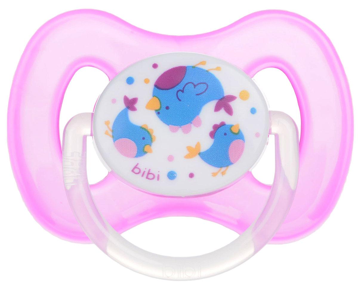 Bibi Пустышка силиконовая Птички от 6 до 16 месяцев