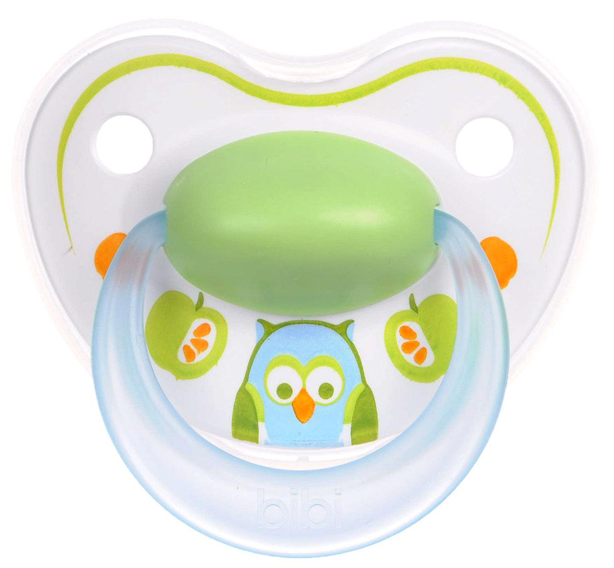 Bibi Пустышка силиконовая Happiness Сова от 6 до 16 месяцев