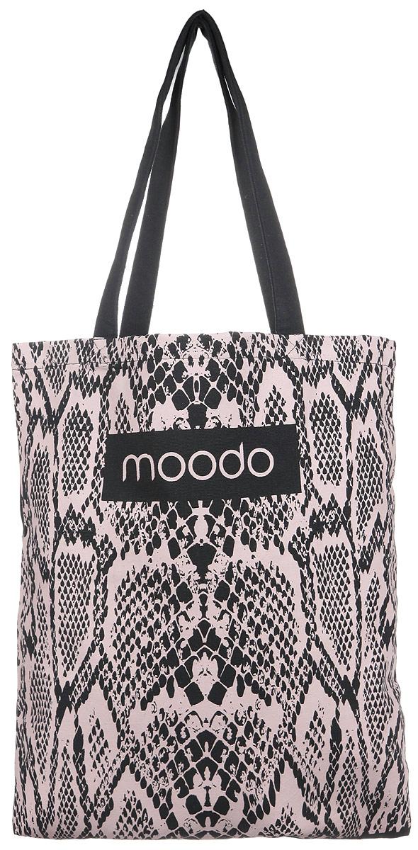 Сумка женская Moodo, цвет: черный. L-TO-2003L-TO-2003 BLACKУниверсальная хлопковая сумка Moodo оформлена изображением логотипа бренда и змеиным принтом. Сумка имеет одно вместительное отделение и оснащена двумя удобными ручками, которые позволят носить изделие, как в руках, так и на плече. Модная сумка идеально подчеркнет ваш неповторимый стиль.
