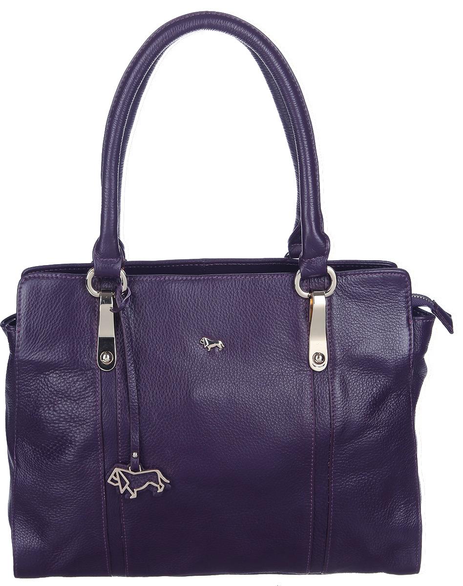 Сумка женская Labbra, цвет: фиолетовый. L-LNX386L-LNX386_purpleСтильная женская сумка Labbra выполнена из натуральной кожи и дополнена фирменным брелоком. Изделие имеет одно основное отделение, разделенное пополам карманом-средником на застежке-молнии. Внутри находятся прорезной карман на застежке-молнии и два накладных открытых кармана. Снаружи, на задней стенке расположен прорезной карман на застежке-молнии. Модель оснащена двумя удобными ручками. Основание изделия защищено от повреждений металлическими ножками. Роскошная сумка внесет элегантные нотки в ваш образ и подчеркнет ваше отменное чувство стиля.