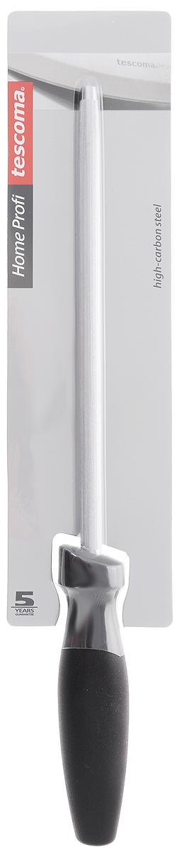 Точилка HOME PROFI, 22 см880550Мусат для заточки ножей HOME PROFI, 22 см создан специально для затачивания ножей серии HOME PROFI, однако прекрасно подходит любым ножам с гладким лезвием. Мусат изготовлен и особой точильной стали с высоким содержанием углерода, он выравнивает режущую кромку клинка и увеличивает остроту лезвия. Если в вашем хозяйстве есть мусат - то ножи всегда будут в идеальном состоянии. Пользоваться мусатом очень просто: без усилий проведите друг по другу широкую режущую часть кромки ножа и оконечность мусата, повторите это несколько раз и вы поразитесь такому быстрому способу восстановления ножа!