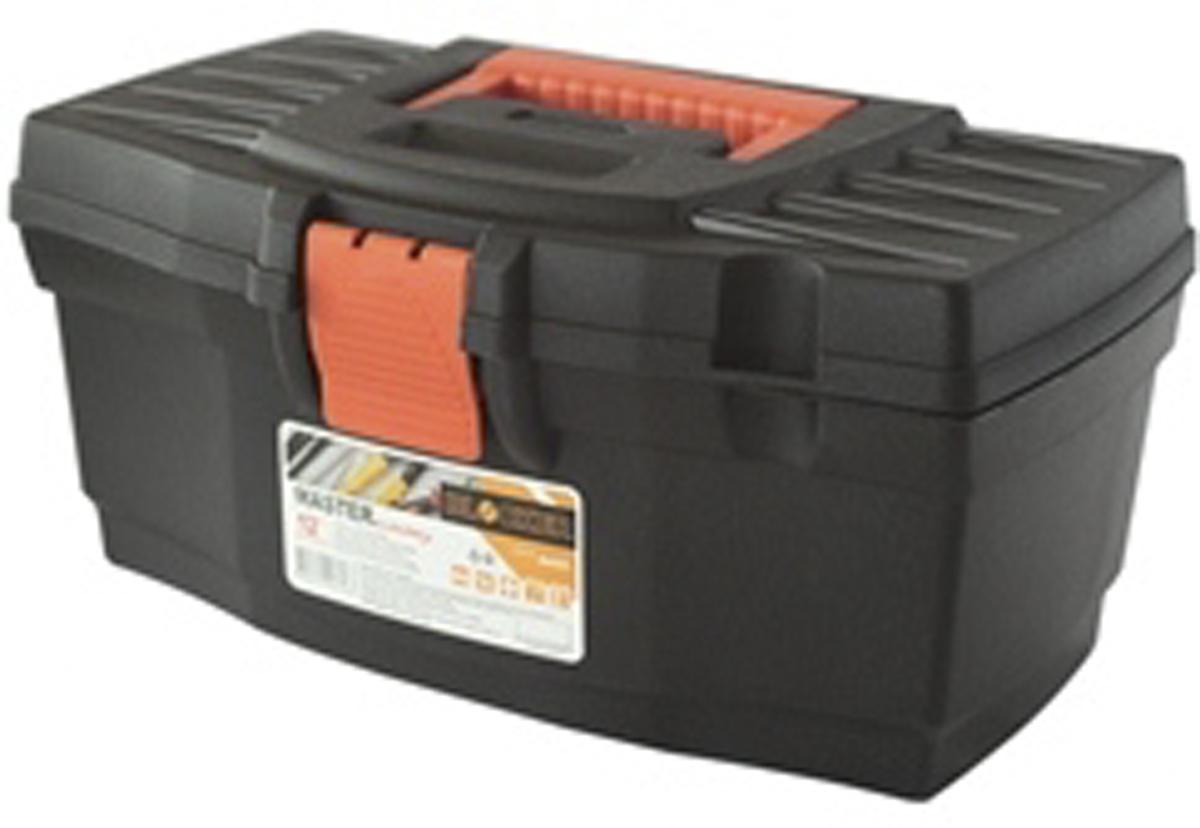 Ящик для инструментов Blocker Master, цвет: черный, оранжевый, 610 х 320 х 300 ммПЦ3703ЧРОРСредний ящик для хранения инструмента и других хозяйственных нужд. Несомненный лидер продаж! Классическая форма, внутренний лоток для эффективной организации хранения. Блоки для мелочей на крышке идеально подходят для размещения мелких скобяных изделий. Надежные замки позволят безопасно переносить ящик с большой загрузкой. Отверстие для крепления навесного замка позволит защитить инструмент при транспортировке.