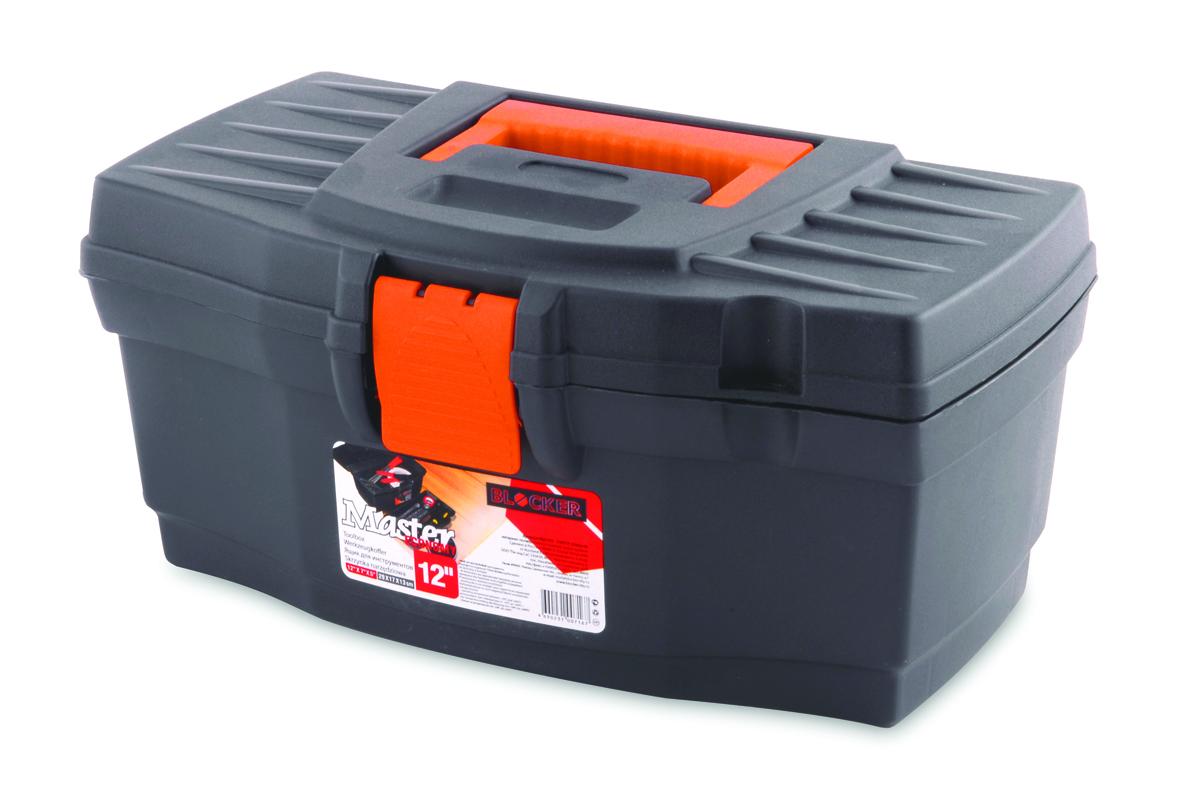 Ящик для инструментов Blocker Master Economy, цвет: серый, оранжевый, 320 х 185 х 152 ммПЦ3707СРСВИНЦОРКлассический ящик эконом-класса для хранения инструмента. Оптимальная форма, никаких переплат за дополнительные опции, но в тоже время абсолютно полноценный ящик с внутренним лотком. Крепкий и надежный. Отверстие для крепления навесного замка позволит защитить инструмент при транспортировке.