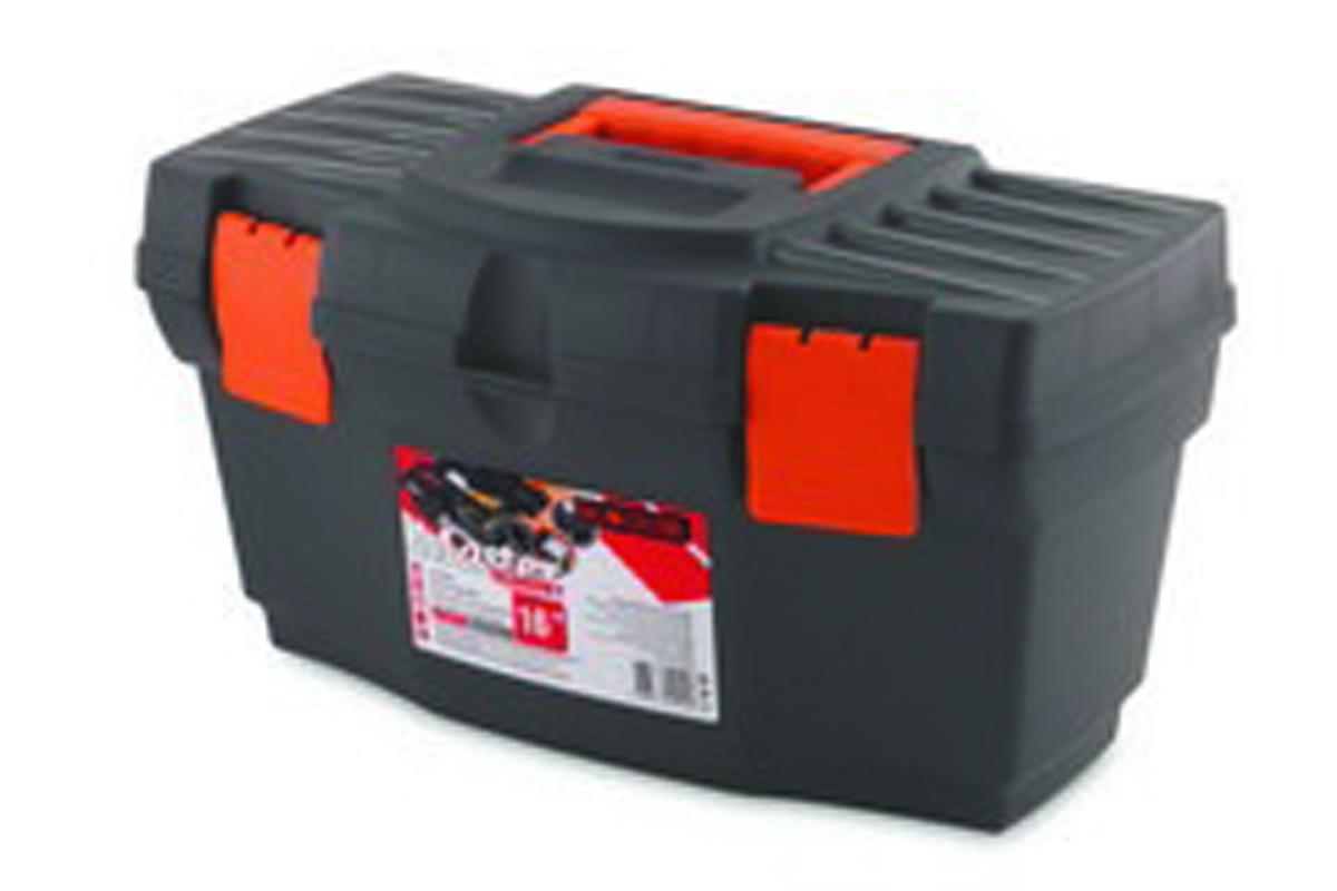 Ящик для инструментов Blocker Master Economy, цвет: серый, оранжевый, 405 х 215 х 230 ммПЦ3708СРСВИНЦОРКлассический ящик эконом-класса для хранения инструмента. Оптимальная форма, никаких переплат за дополнительные опции, но в тоже время абсолютно полноценный ящик с внутренним лотком. Крепкий и надежный. Отверстие для крепления навесного замка позволит защитить инструмент при транспортировке.