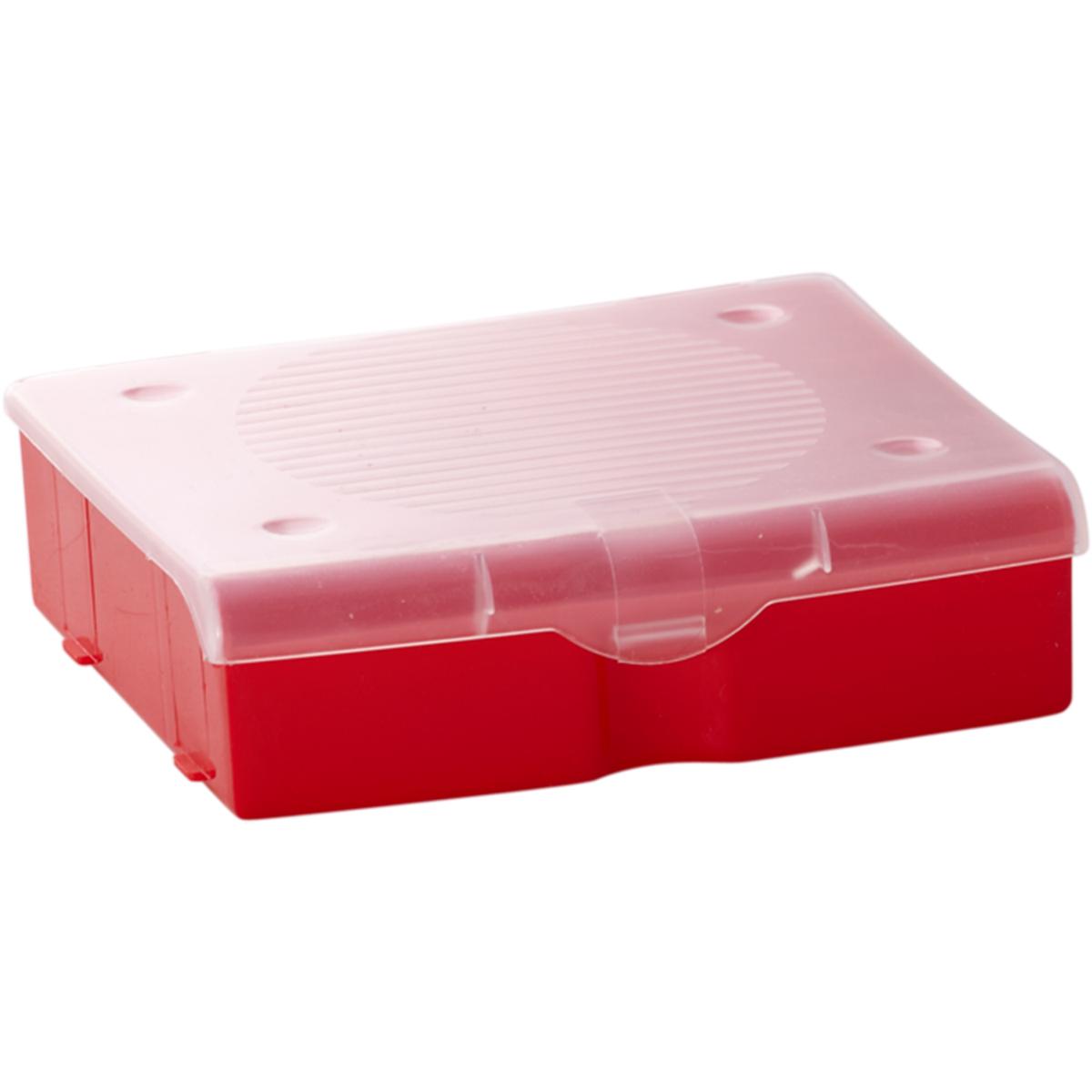 Органайзер для мелочей Blocker, цвет: красный, 17 х 16 х 4,5 смПЦ3711КРПРОрганайзер для мелочей Blocker предназначен для оптимальной организации пространства. Внутреннее деление делает удобным размещение внутри блока деталей, которые необходимо отделить друг от друга, а прозрачная крышка позволяет увидеть содержимое, не открывая блок. Подходит для хранения швейных принадлежностей, мелких деталей и рыболовных снастей. Крышка плотно закрывается и предотвращает потерю содержимого.
