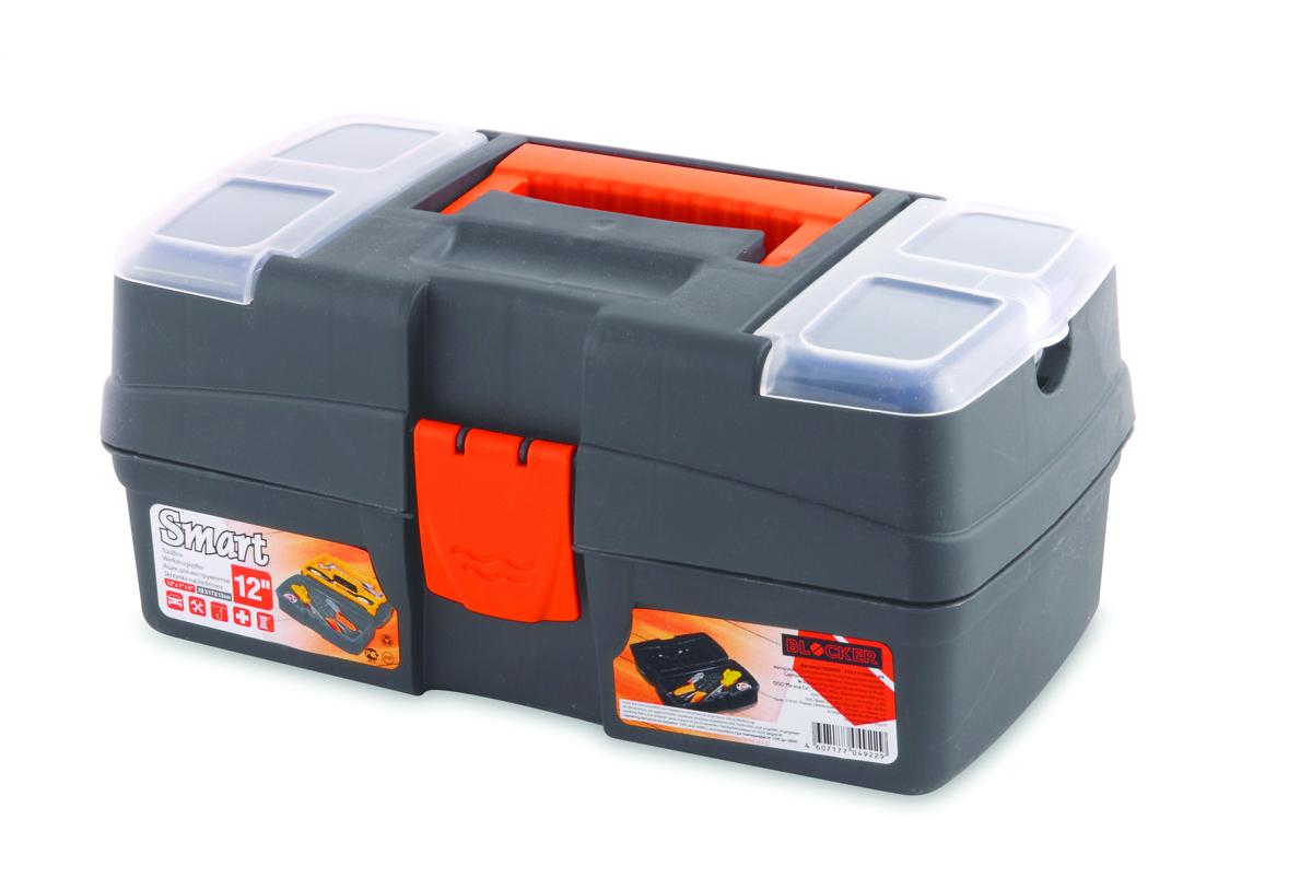Ящик для инструментов Blocker Smart, цвет: серый, 290 х 170 х 132 ммПЦ3690/НСРСВОРМногофункциональный ящик небольшого размера. Отлично подходит для хранения мелких ремонтных и бытовых принадлежностей, а также используется в качестве аптечки дома и в автомобиле.