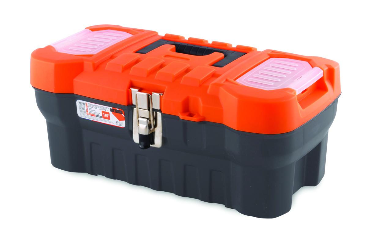 Ящик для инструментов Blocker Expert, цвет: серый, 410 х 210 х 175 ммПЦ3730/НСРСВПрочный, удобный ящик для хранения и переноски инструментов, домашних мелочей, рыболовных принадлежностей. Надежные металлические замки, современный дизайн, конструкция, предусматривающая повышенные нагрузки, внутренний лоток. Встроенные органайзеры в крышке для размещения мелких деталей.