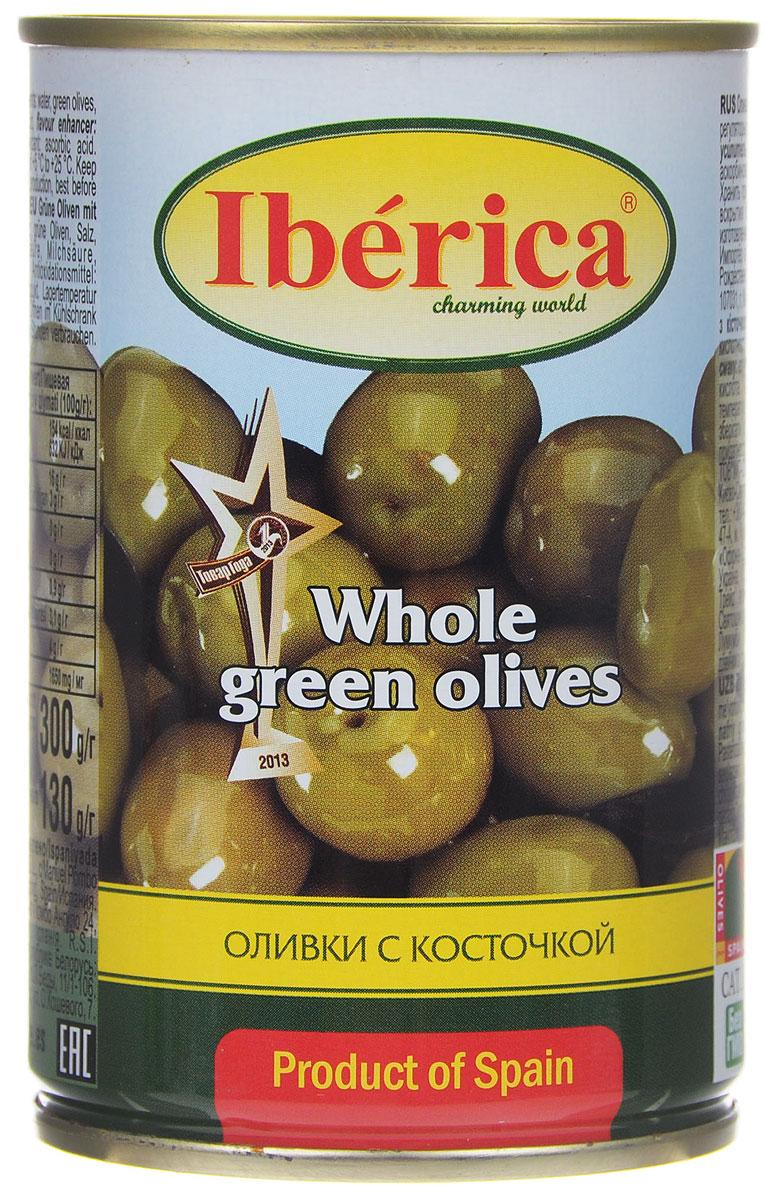 Iberica оливки с косточкой, 300 г0710102Превосходные оливки Iberica с косточкой. Оливки и маслины Iberica - давно знакомый потребителям бренд, один из лидеров в данной категории продуктов.