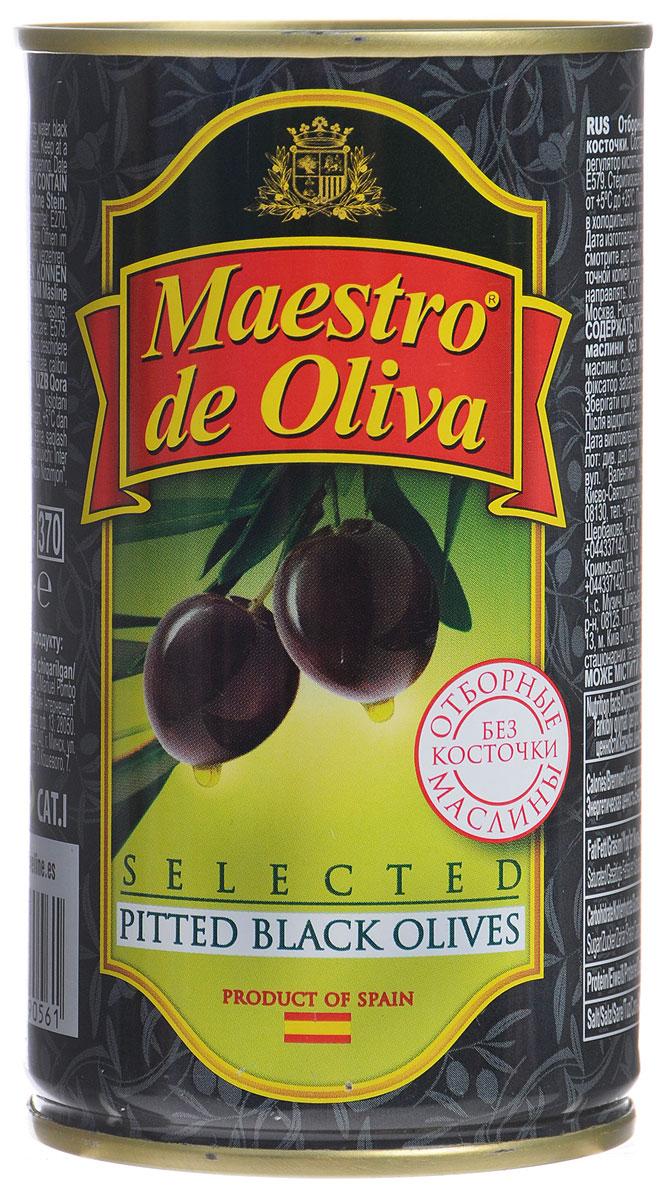Maestro de Oliva отборные маслины черные без косточек, 360 г