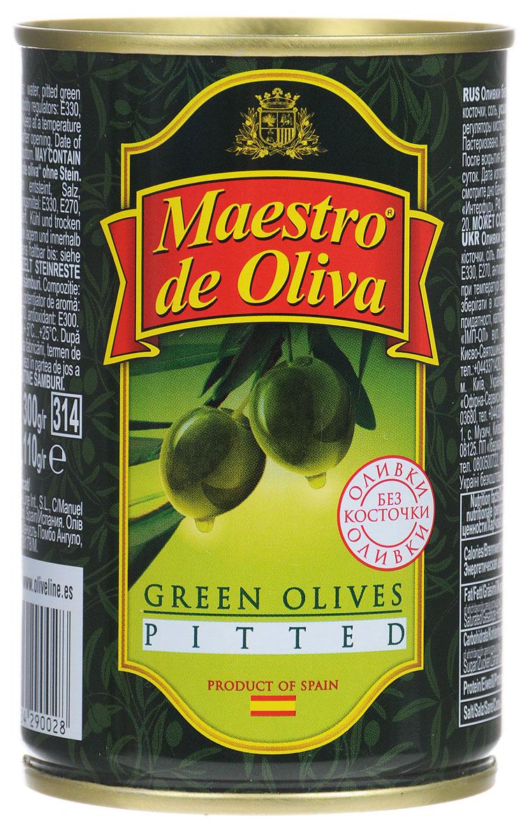 Maestro de Oliva оливки без косточек, 300 г