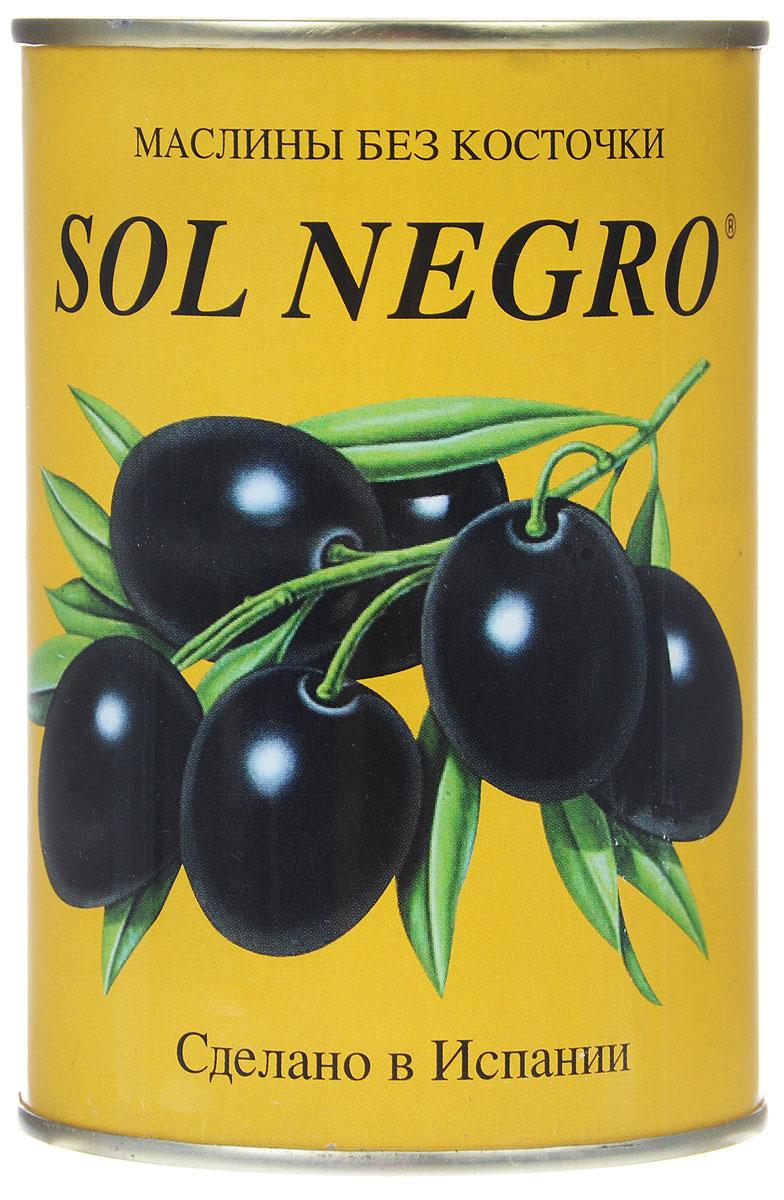 Sol Negro маслины черные без косточек, 480 г