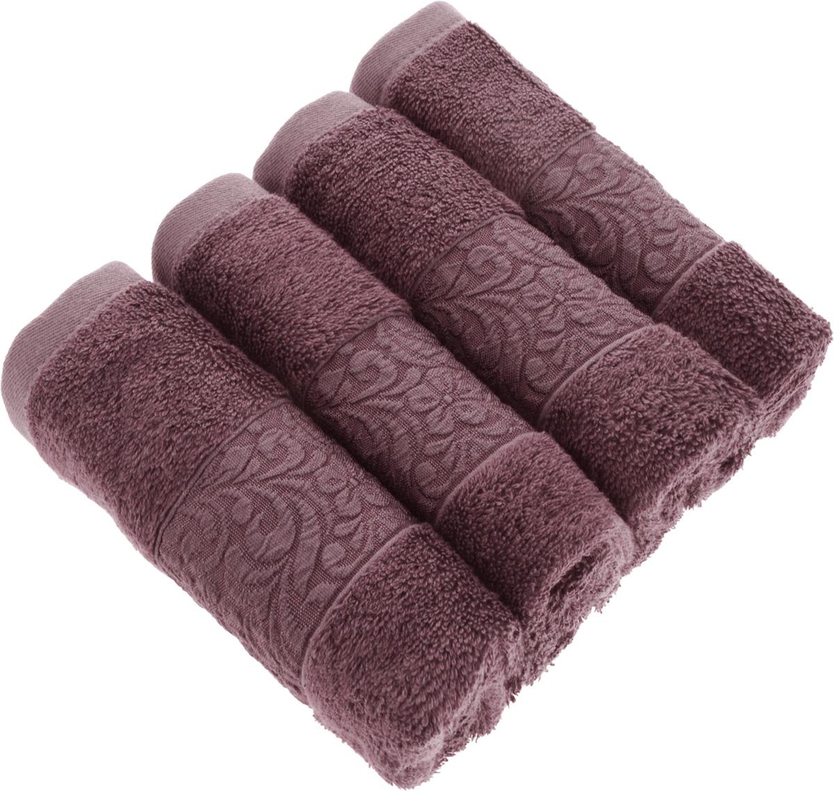 Набор бамбуковых полотенец Issimo Home Valencia, цвет: пыльная роза, 30 x 50 см, 4 шт4771Полотенца Issimo Home Valencia выполнены из 60% бамбукового волокна и 40% хлопка. Такими полотенцами не нужно вытираться - только коснитесь кожи - и ткань сама все впитает. Такая ткань впитывает в 3 раза лучше, чем хлопок. Набор из маленьких полотенец-салфеток очень практичен - он станет незаменимым в дороге и в путешествиях. Кроме того, это хороший, красивый и изысканный подарок. Несмотря на богатую плотность и высокую петлю полотенец, они быстро сохнут, остаются легкими даже при намокании. Набор бамбуковых полотенец имеет красивый жаккардовый бордюр, выполненный с орнаментом в цвет изделия. Благородные, классические тона создадут уют и подчеркнут лучшие качества махровой ткани, а сочные, яркие, летние оттенки создадут ощущение праздника и наполнят дом энергией. Красивая, стильная упаковка этих полотенец делает их уже готовым подарком к любому случаю.