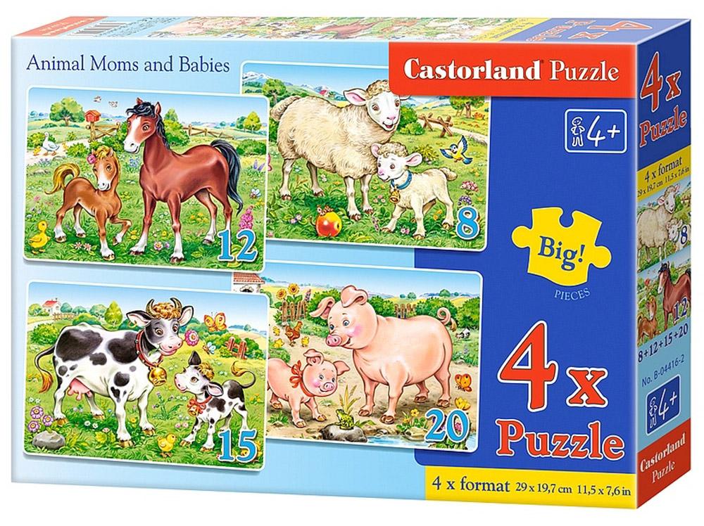 Castorland Пазл Домашние животныеВ-04416Пазлы Castorland это - высокий уровень полиграфии, четкие и красочные цвета, продуманные иллюстрации, уникальность формы каждой детали, разнообразие тематик