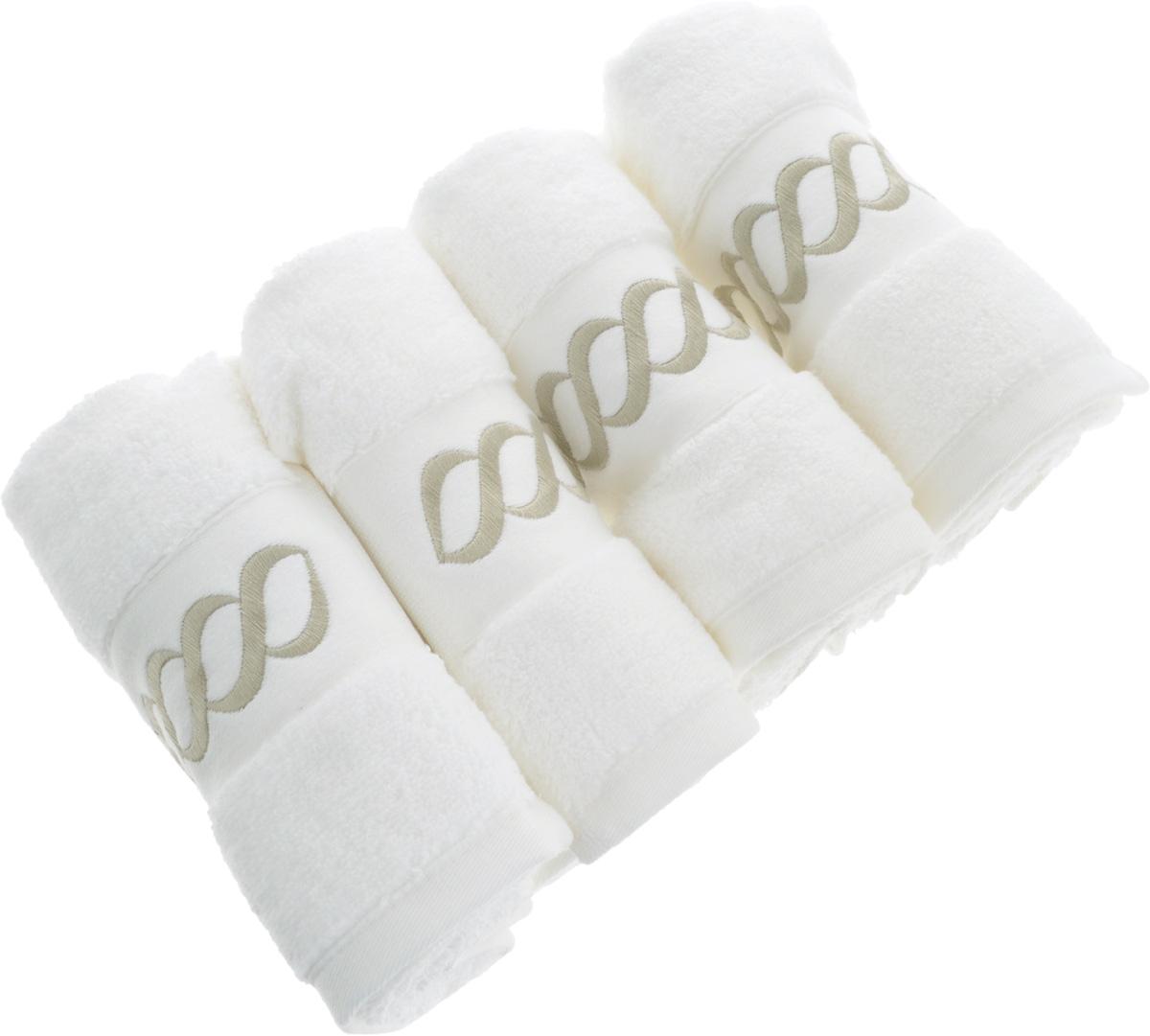 Набор махровых полотенец Issimo Home Pauline, цвет: белый, бежевый, 30 x 50 см, 4 шт4743Набор полотенец Issimo Home Pauline выполнен из натуральной махровой ткани (100% хлопок). Изделия отлично впитывают влагу, быстро сохнут и не теряют форму даже после многократных стирок. Рекомендации по уходу: - режим стирки при 40°C, - допускается обычная химчистка, - отбеливание запрещено, - глажка при температуре подошвы утюга до 110°С, - барабанный отжим запрещен. Размер полотенца: 30 x 50 см.