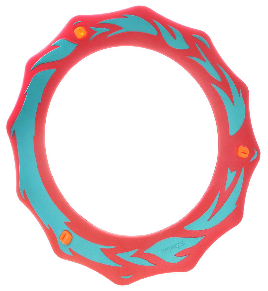 Simba Летающее кольцо цвет коралловый7201411_коралловыйЛетающее кольцо Simba сделает отдых на природе веселым и увлекательным. Оформленное стильными языками пламени, кольцо предназначено для полетов в воздухе. На поверхности кольца есть три желобка, которые при полете издают свист и делают игру еще веселее.